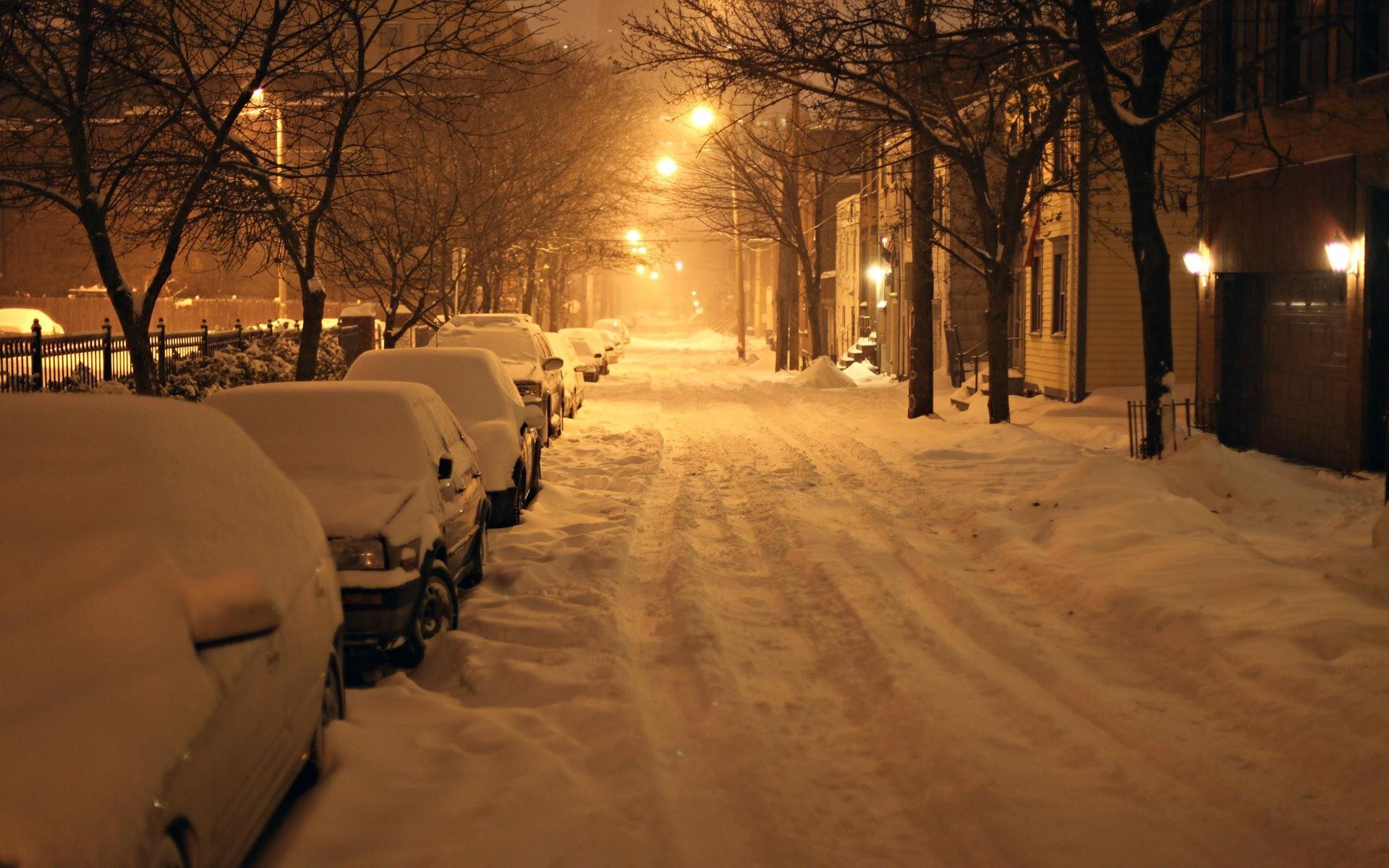 General 1920x1200 car snow photography night winter street city urban street light lantern vehicle house calm