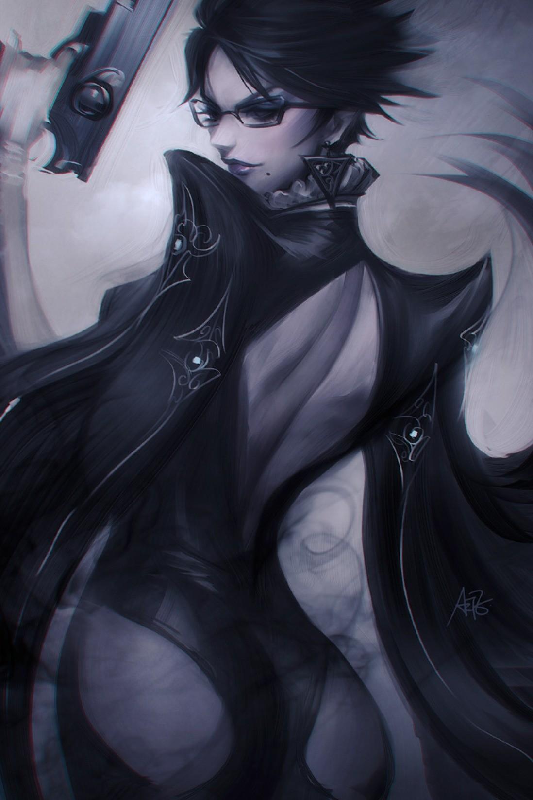 General 1098x1646 women ass gun weapon glasses fantasy girl fantasy art Jeanne (Bayonetta)