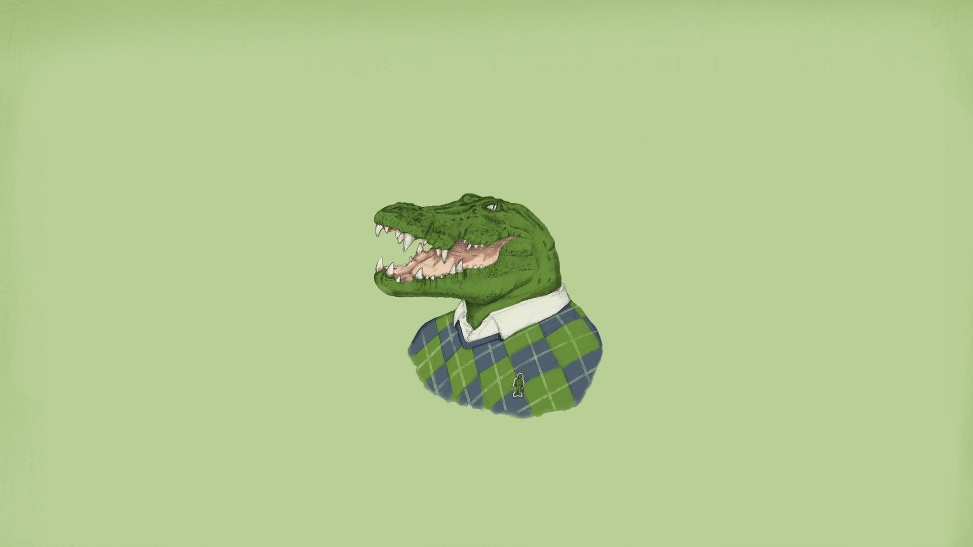 General 1920x1080 minimalism crocodile simple background