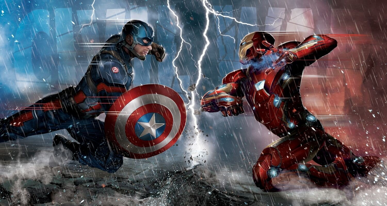 General 1500x801 Captain America Captain America: Civil War Iron Man comics Marvel Comics superhero artwork concept art lightning