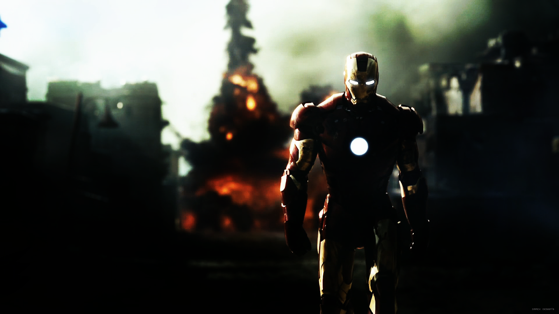 General 1920x1080 Iron Man Marvel Cinematic Universe movies dark