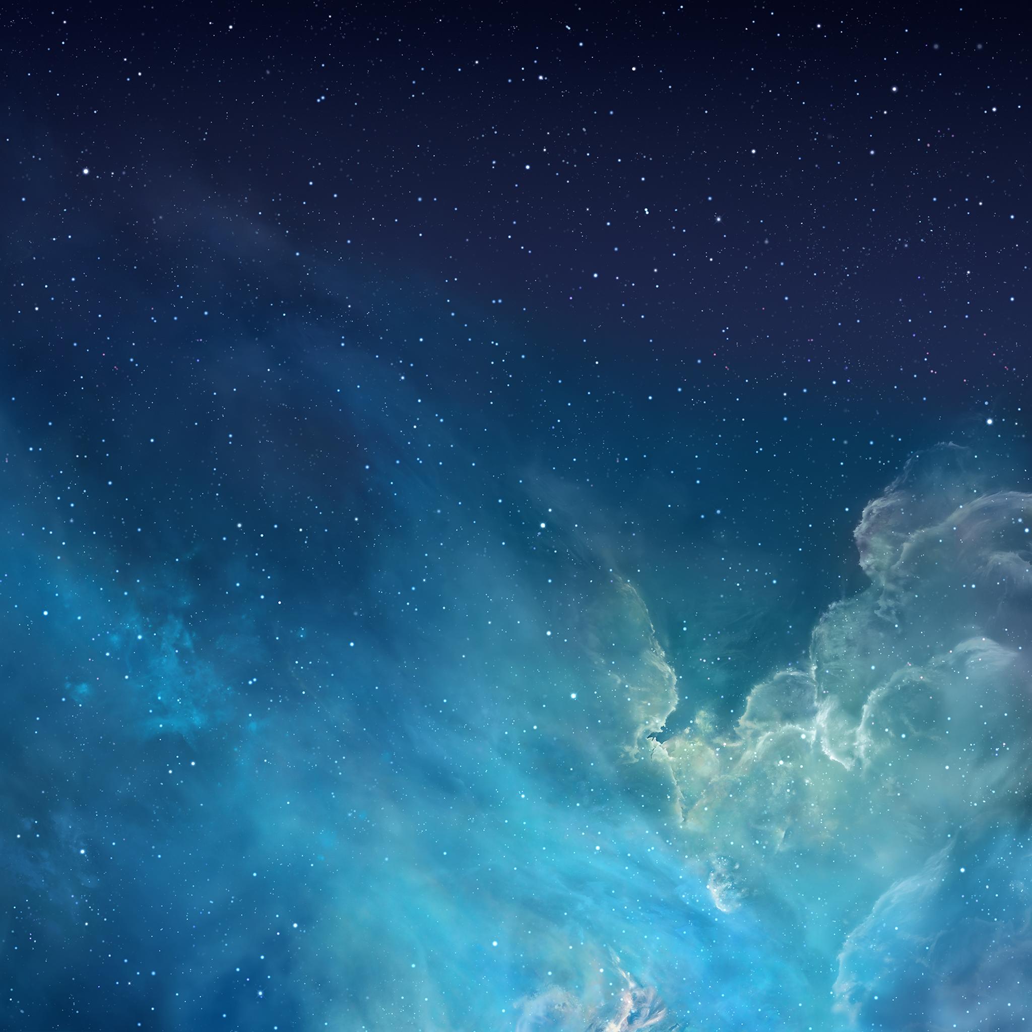 General 2048x2048 galaxy space sky iOS 7 stars nebula space art blue