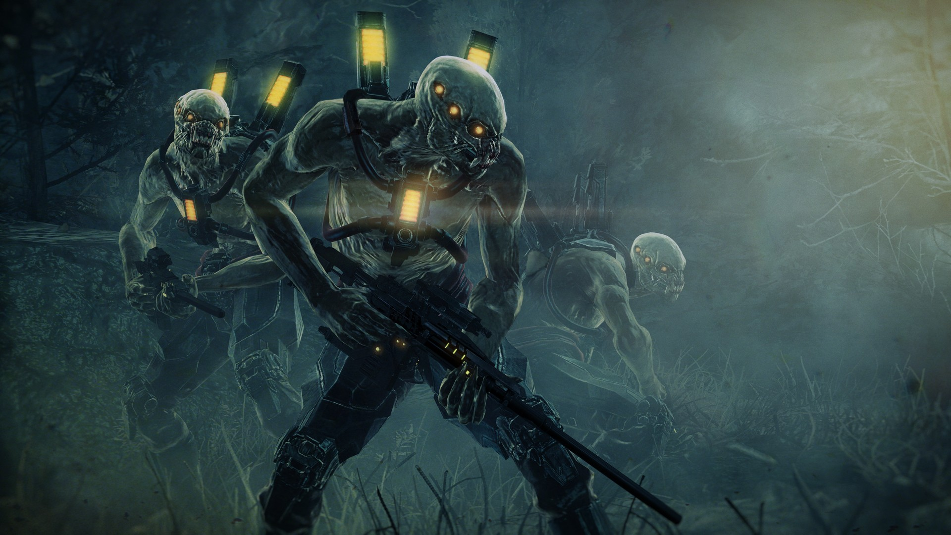 General 1920x1080 gun yellow eyes Resistance: Fall of Man creature horror weapon