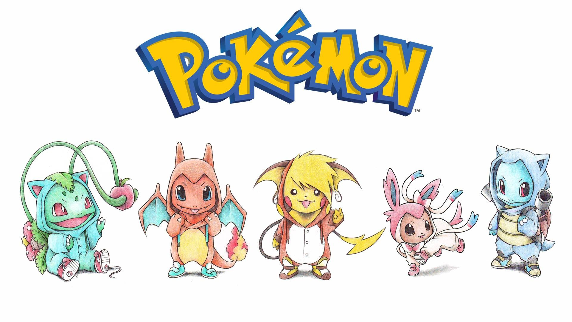 General 1920x1080 Pikachu Bulbasaur Squirtle Eevee Charmander