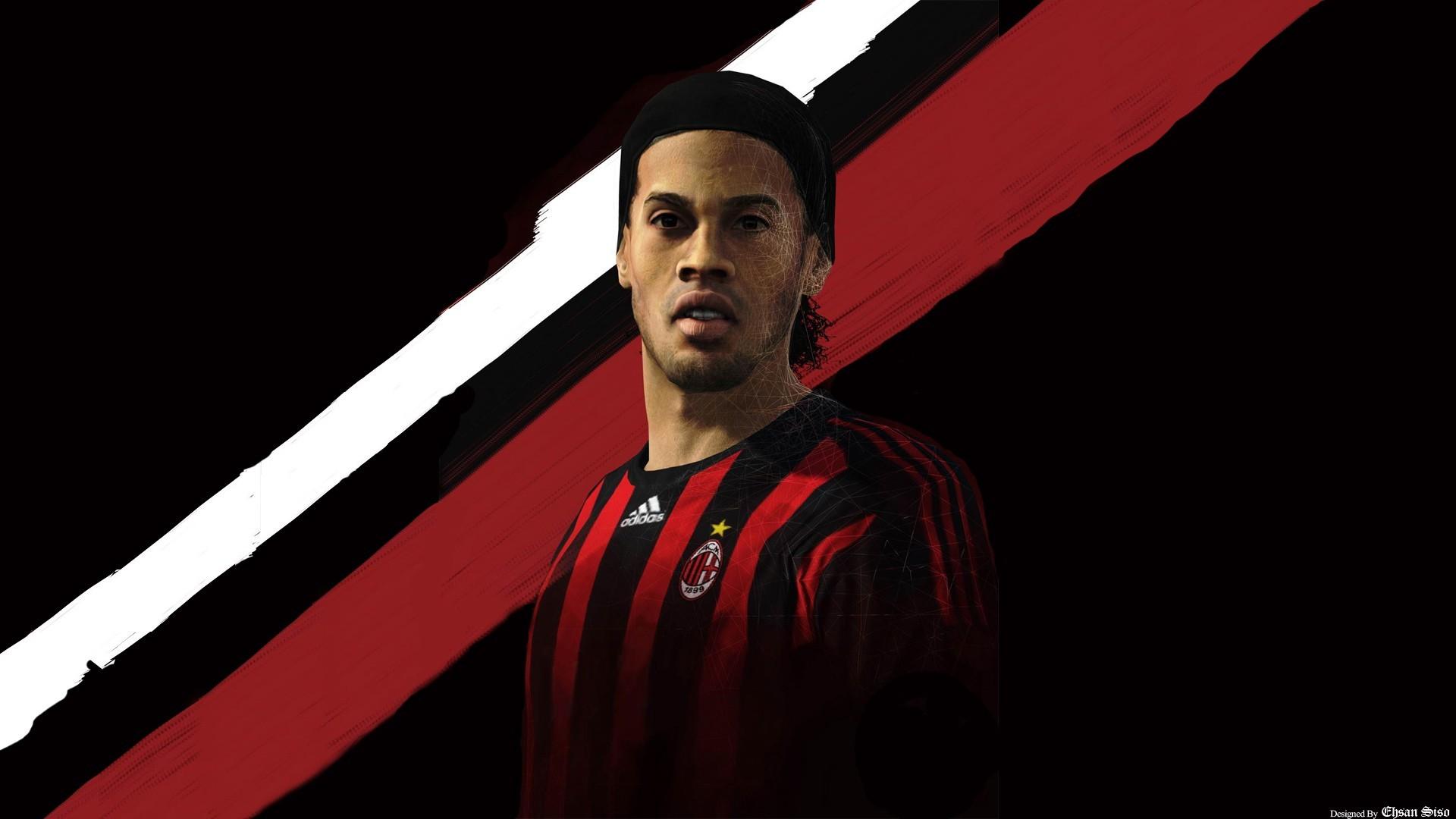 General 1920x1080 Ronaldinho AC Milan artwork men soccer sport  sports