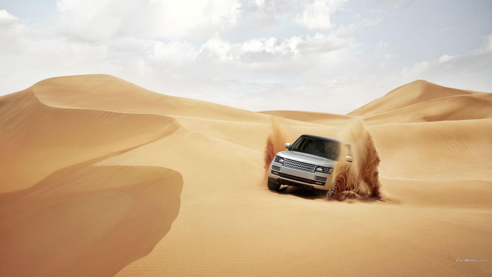 General 1920x1080 Range Rover car desert sand