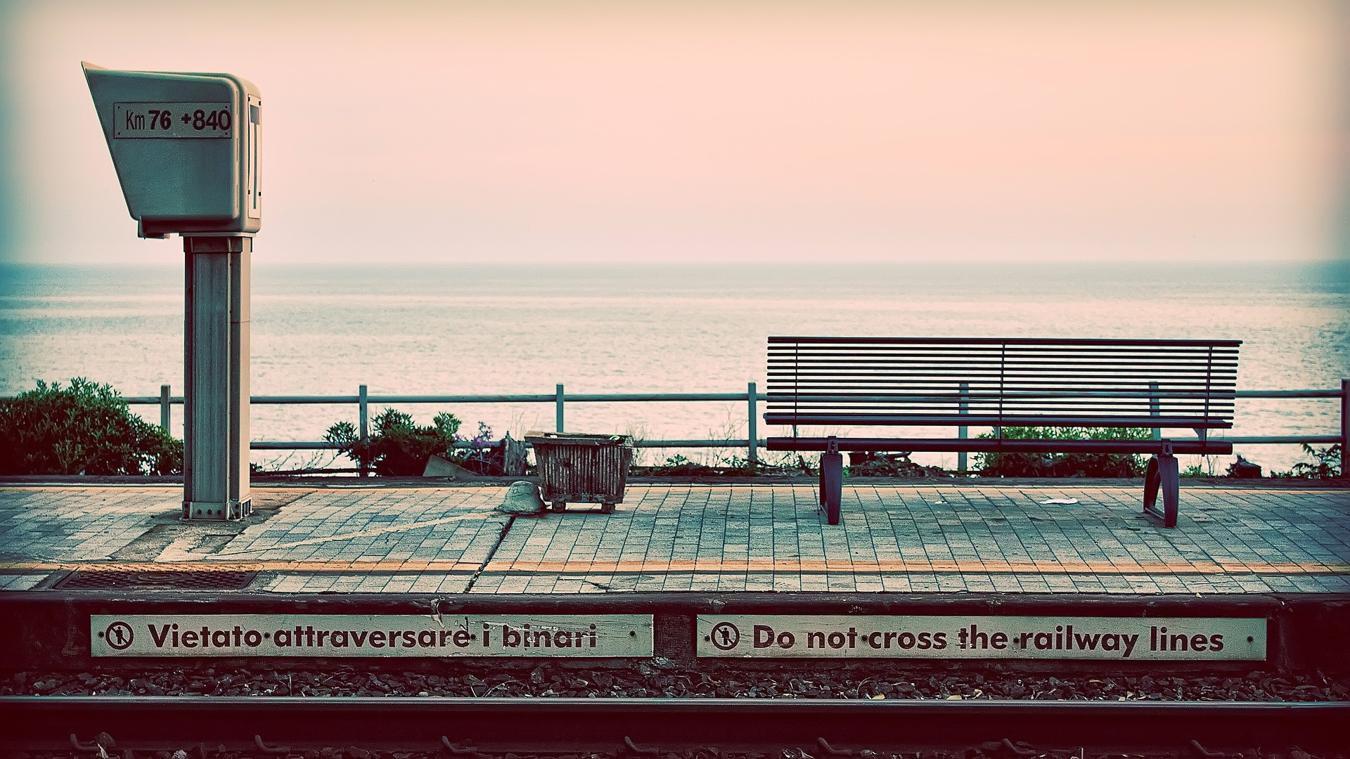 General 1920x1080 photography nature landscape water sea train station