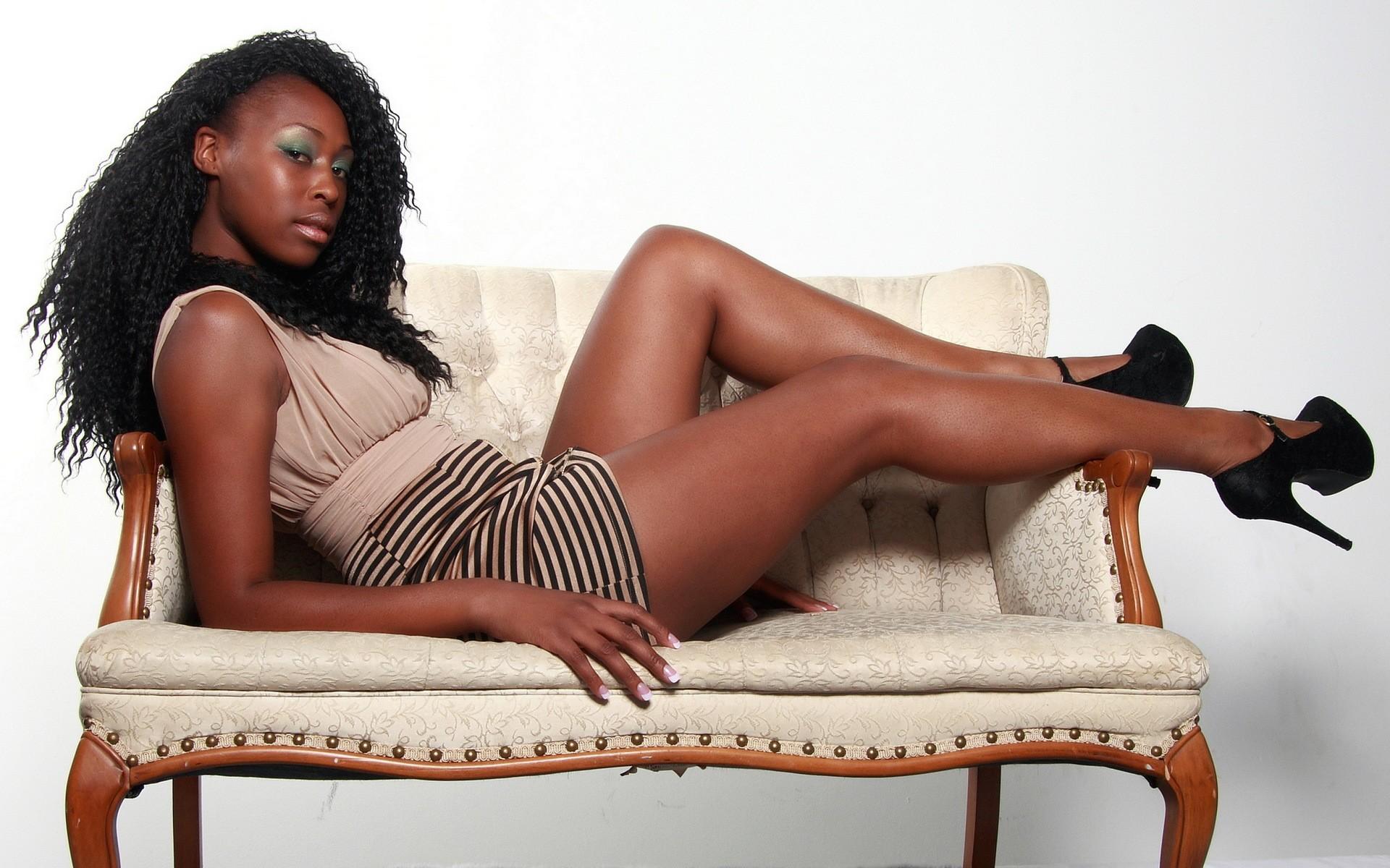Big women sitting on black girls
