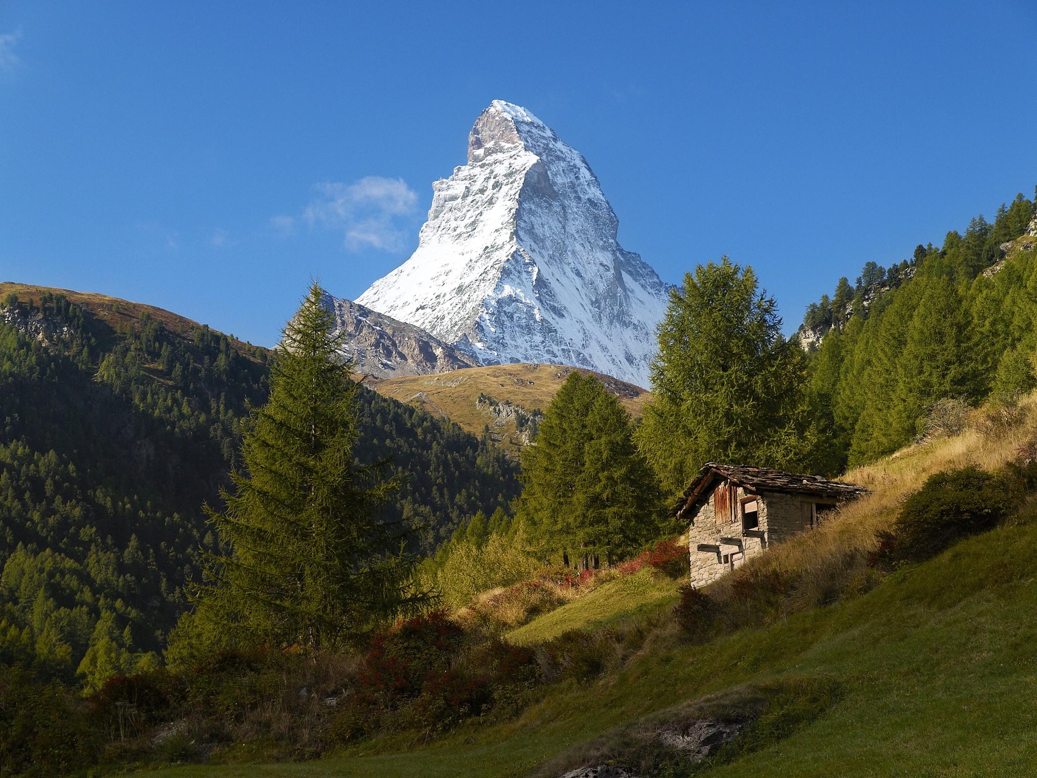 General 2052x1539 Matterhorn Alps mountains nature landscape trees