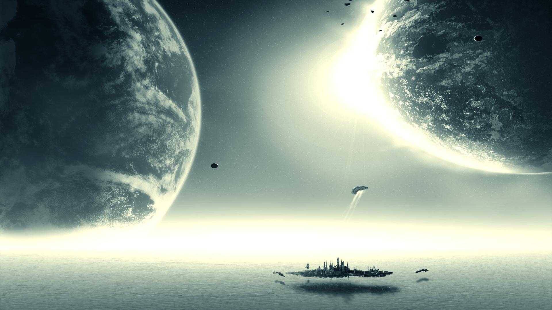 General 1920x1080 science fiction space art digital art Stargate Stargate Atlantis jumper Daedalus-class TV Series