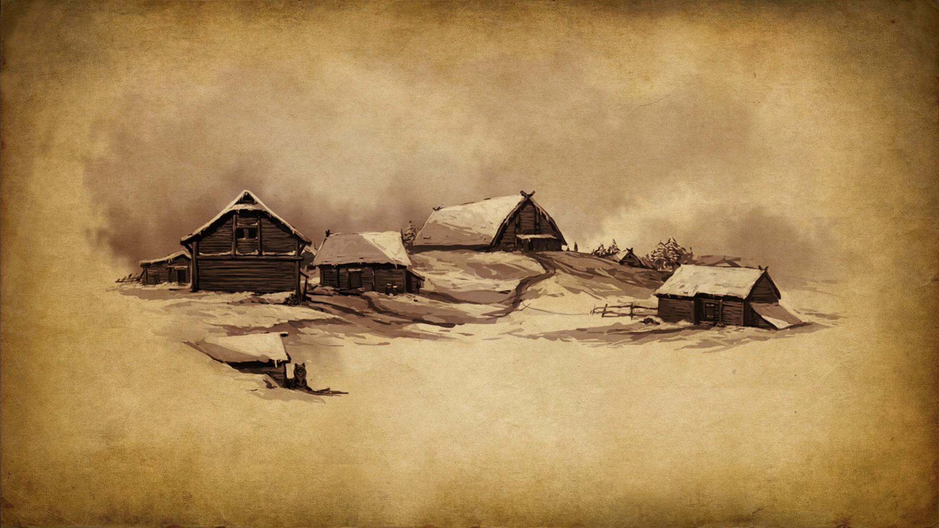 General 1920x1080 fantasy art Mount & Blade painting artwork beige village