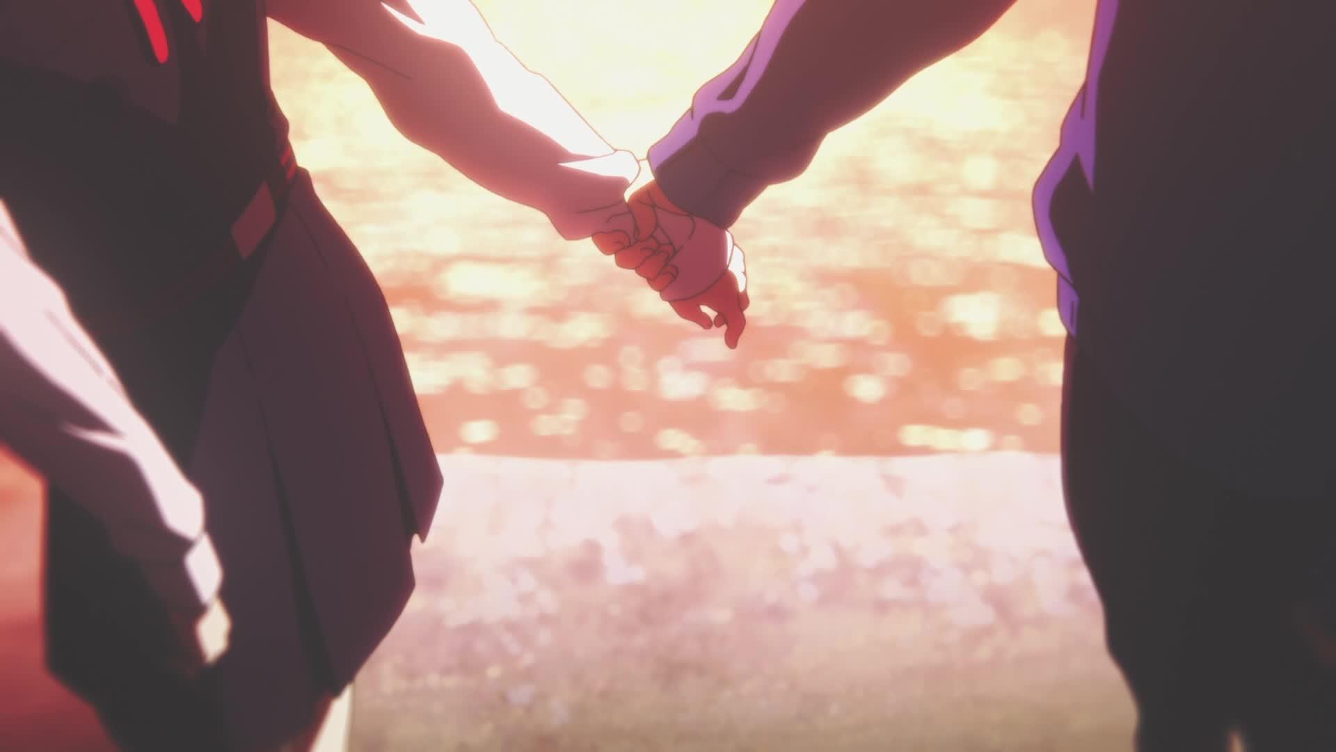 Anime 1920x1080 Tamako Market anime holding hands