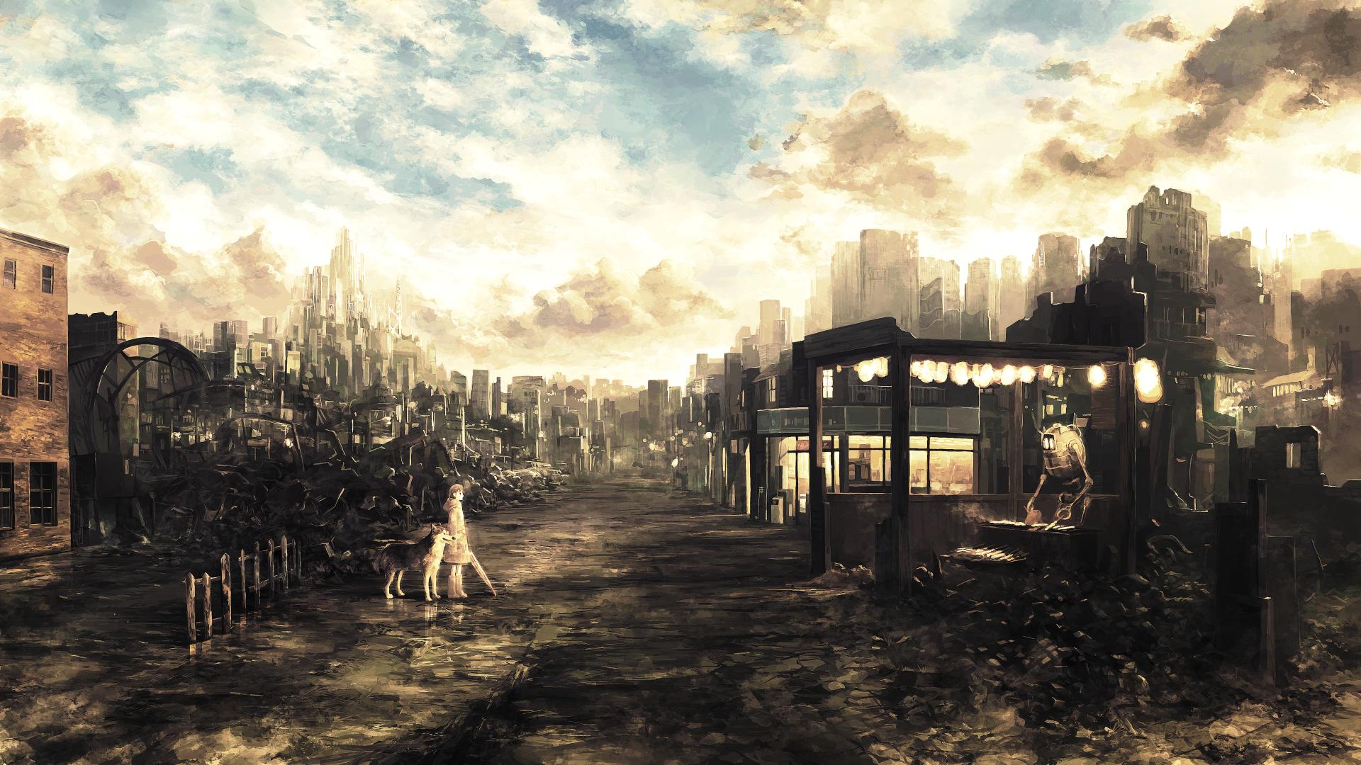 General 1920x1080 city ruin fantasy art wasteland