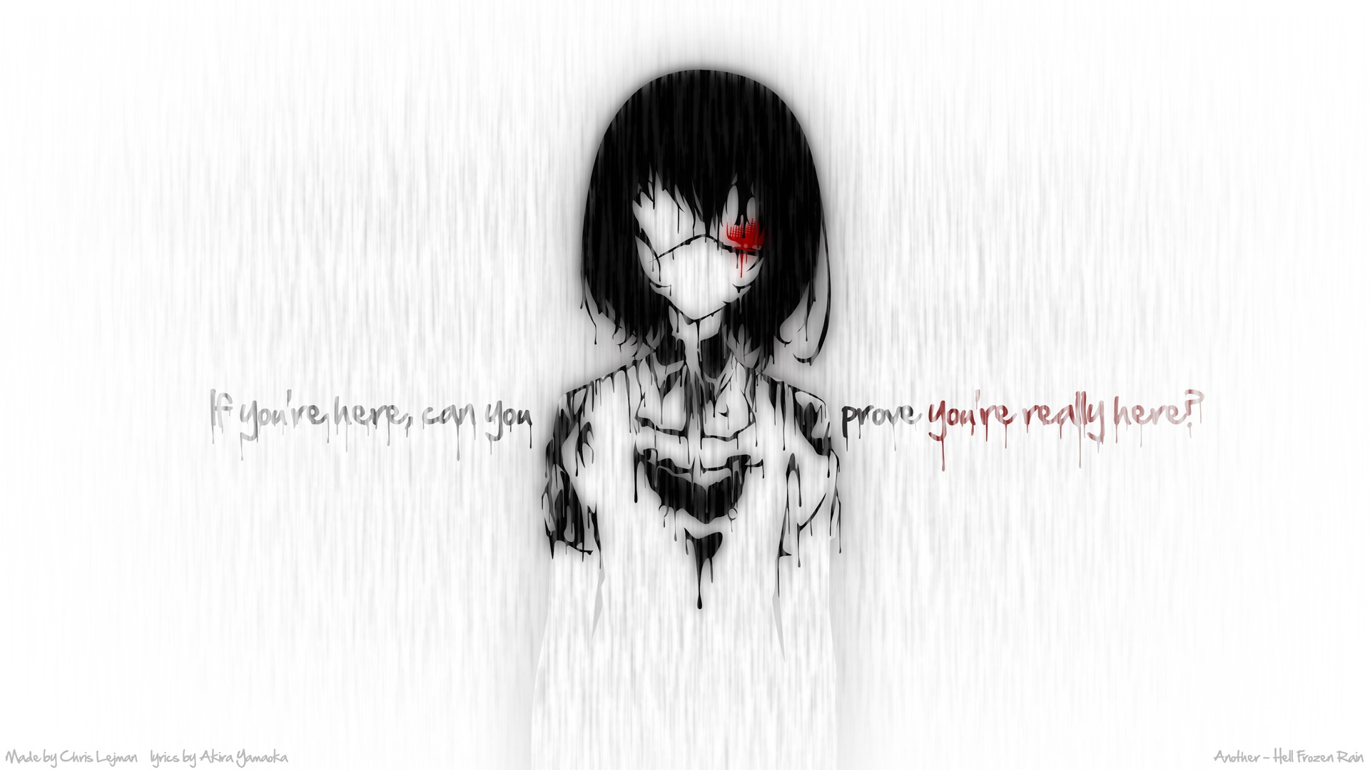 Anime 1920x1080 Another Misaki Mei anime girls anime typography