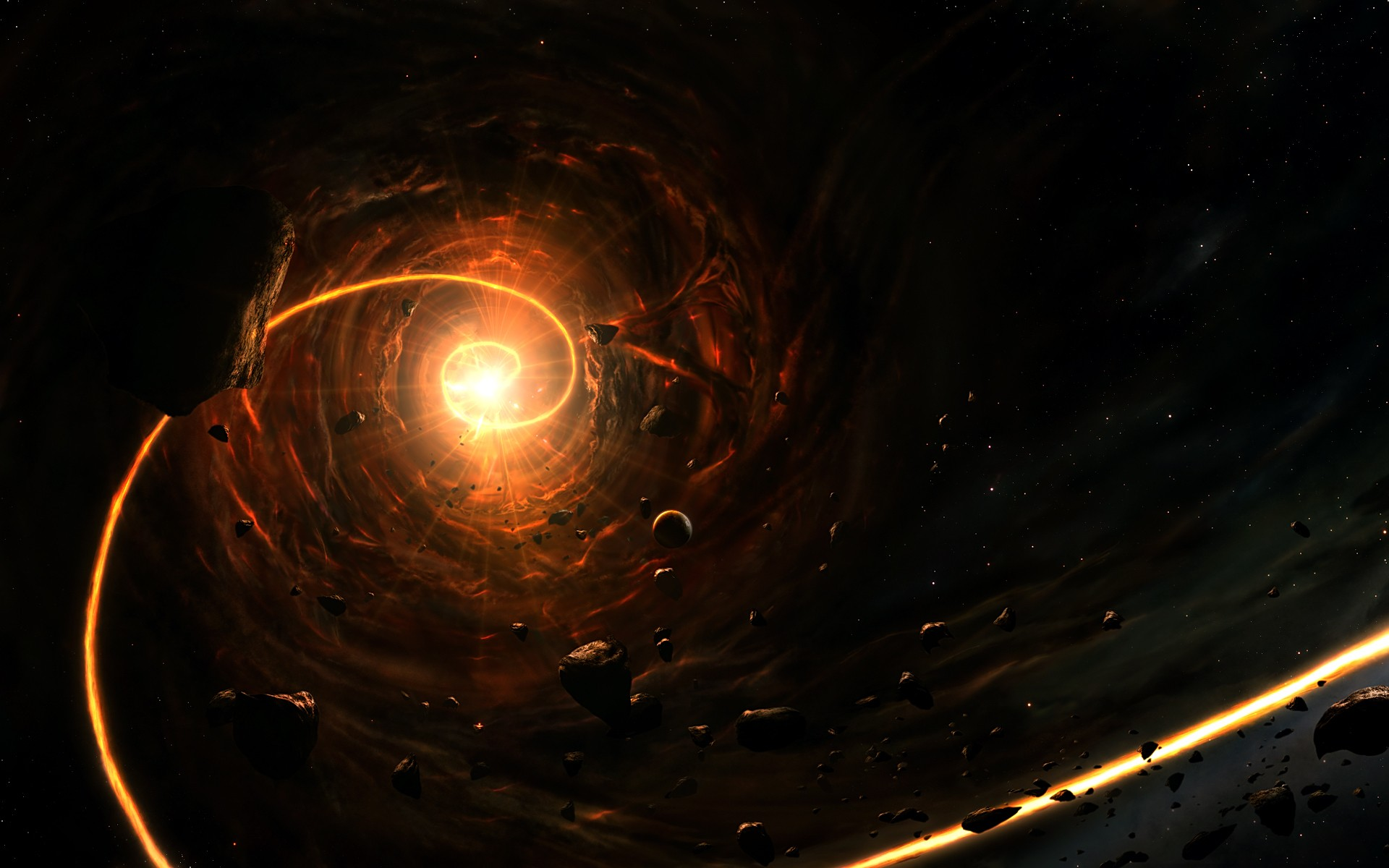 General 1920x1200 space space art black holes