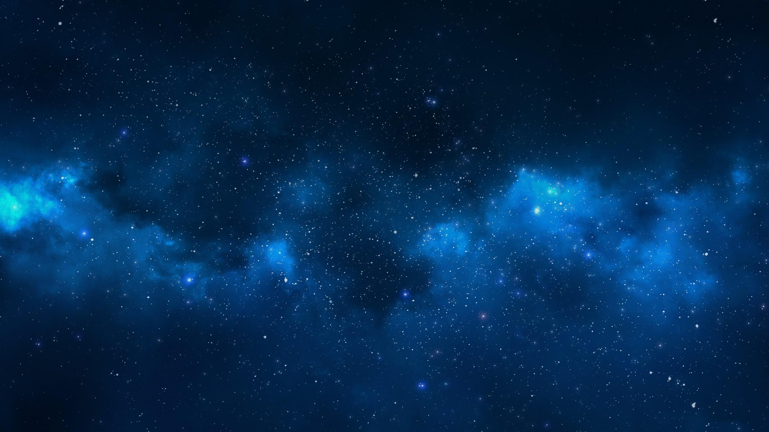General 2560x1440 artwork simple background blue stars space digital art space art