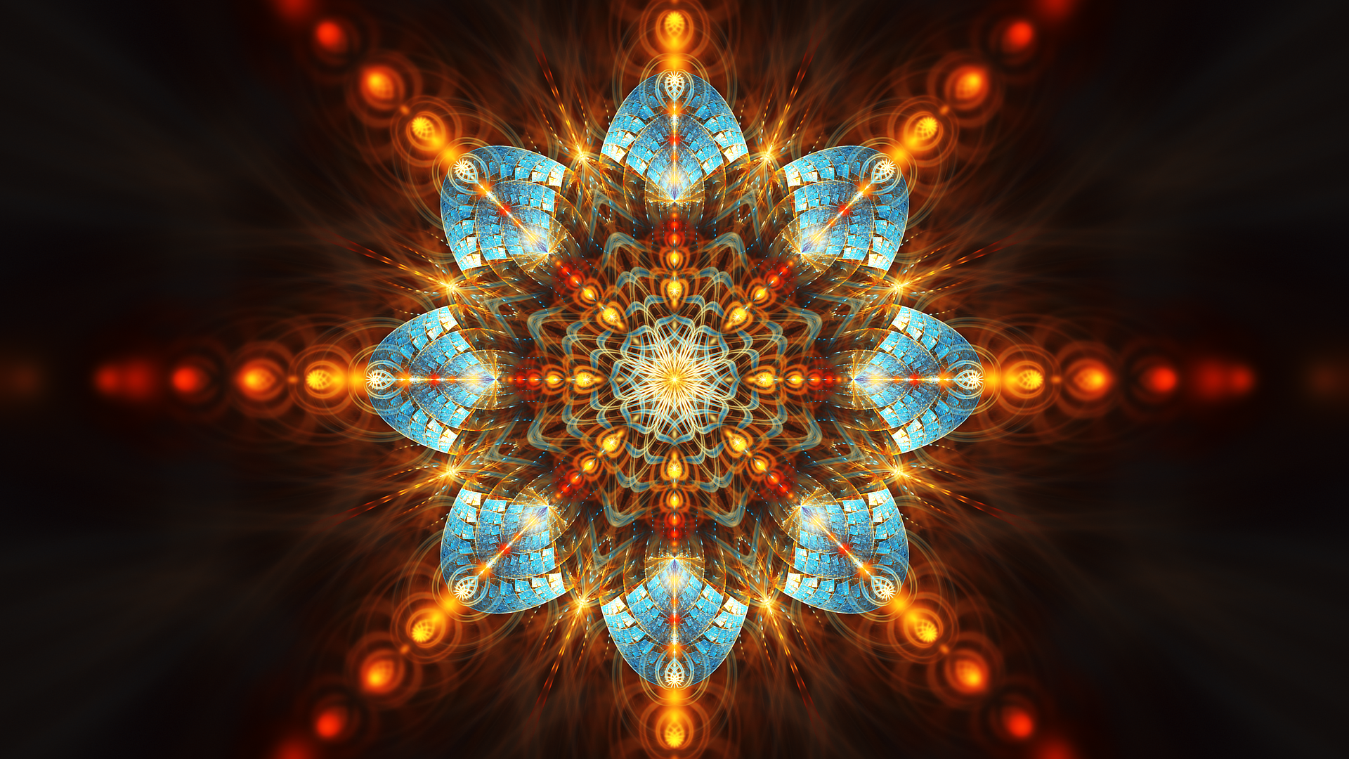 General 1920x1080 abstract fractal symmetry digital art fractal flowers