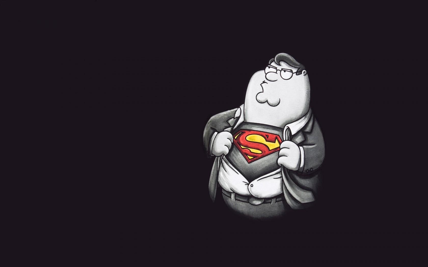 General 1680x1050 minimalism artwork superhero Peter Griffin gray