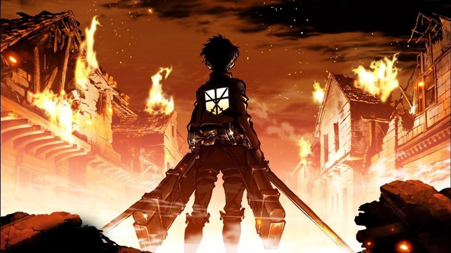 Anime 1920x1080 Shingeki no Kyojin Eren Jeager anime