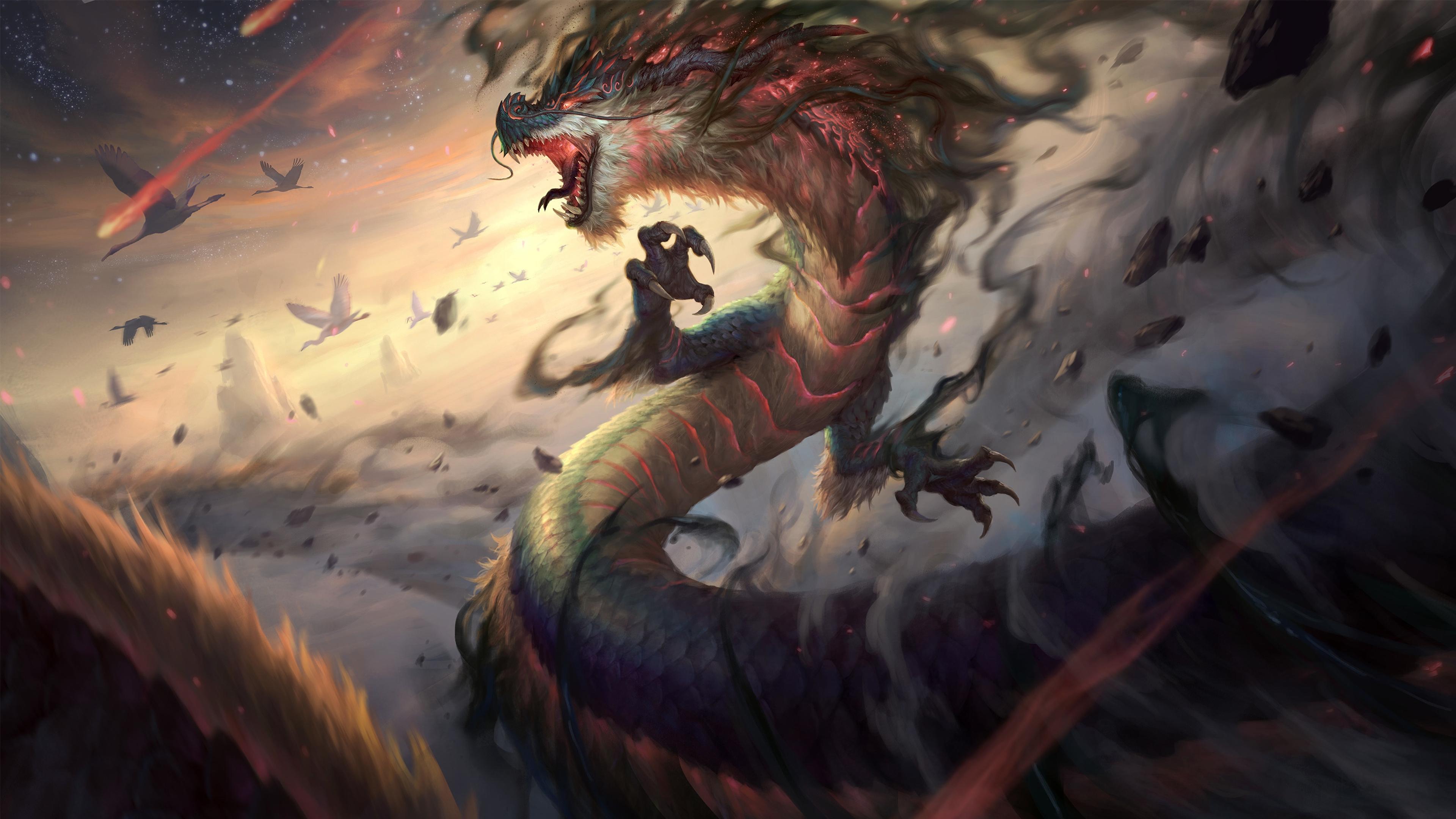 General 3840x2160 dragon creature fantasy art
