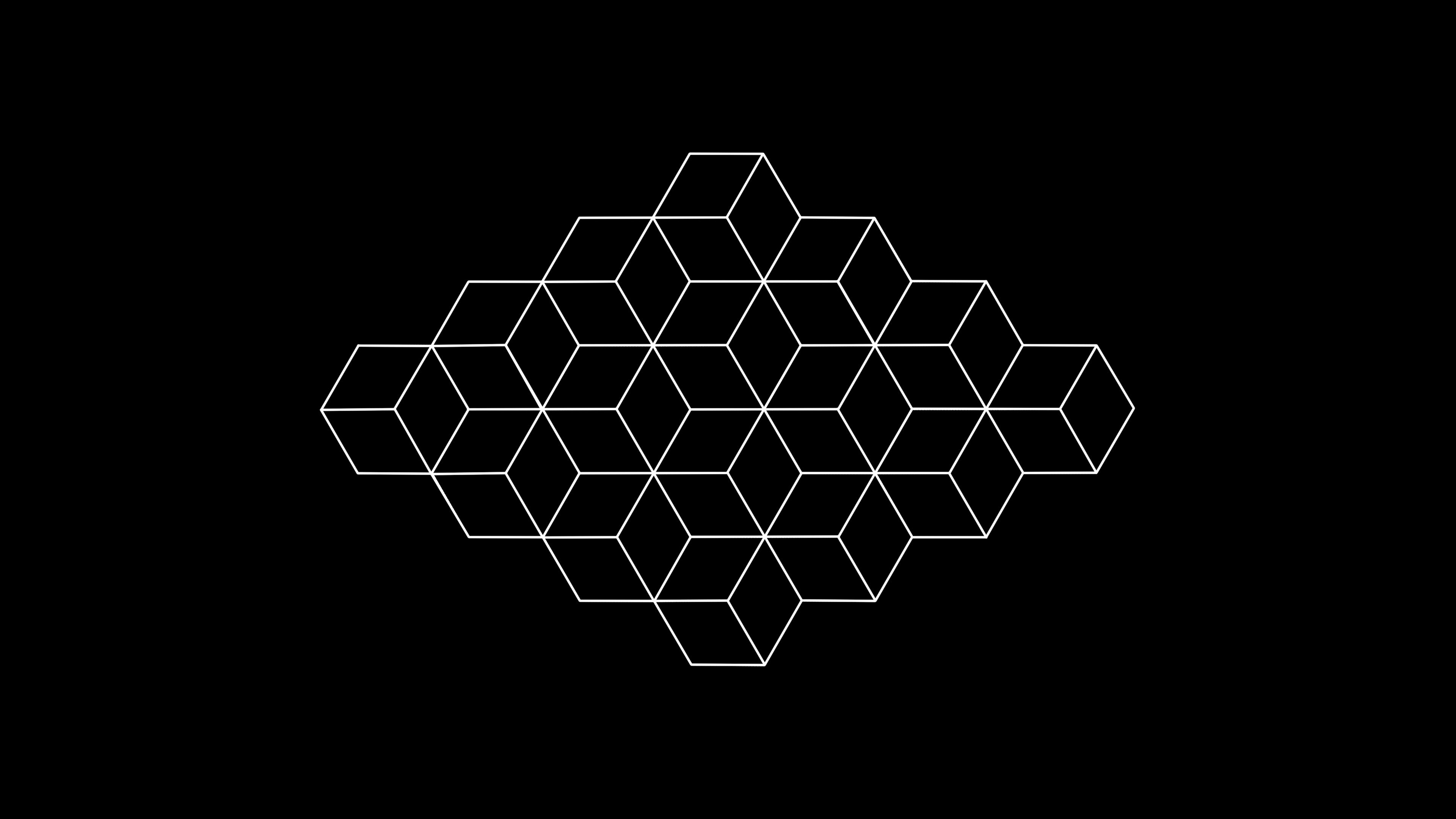General 3840x2160 abstract shapes geometry geometric figures digital art