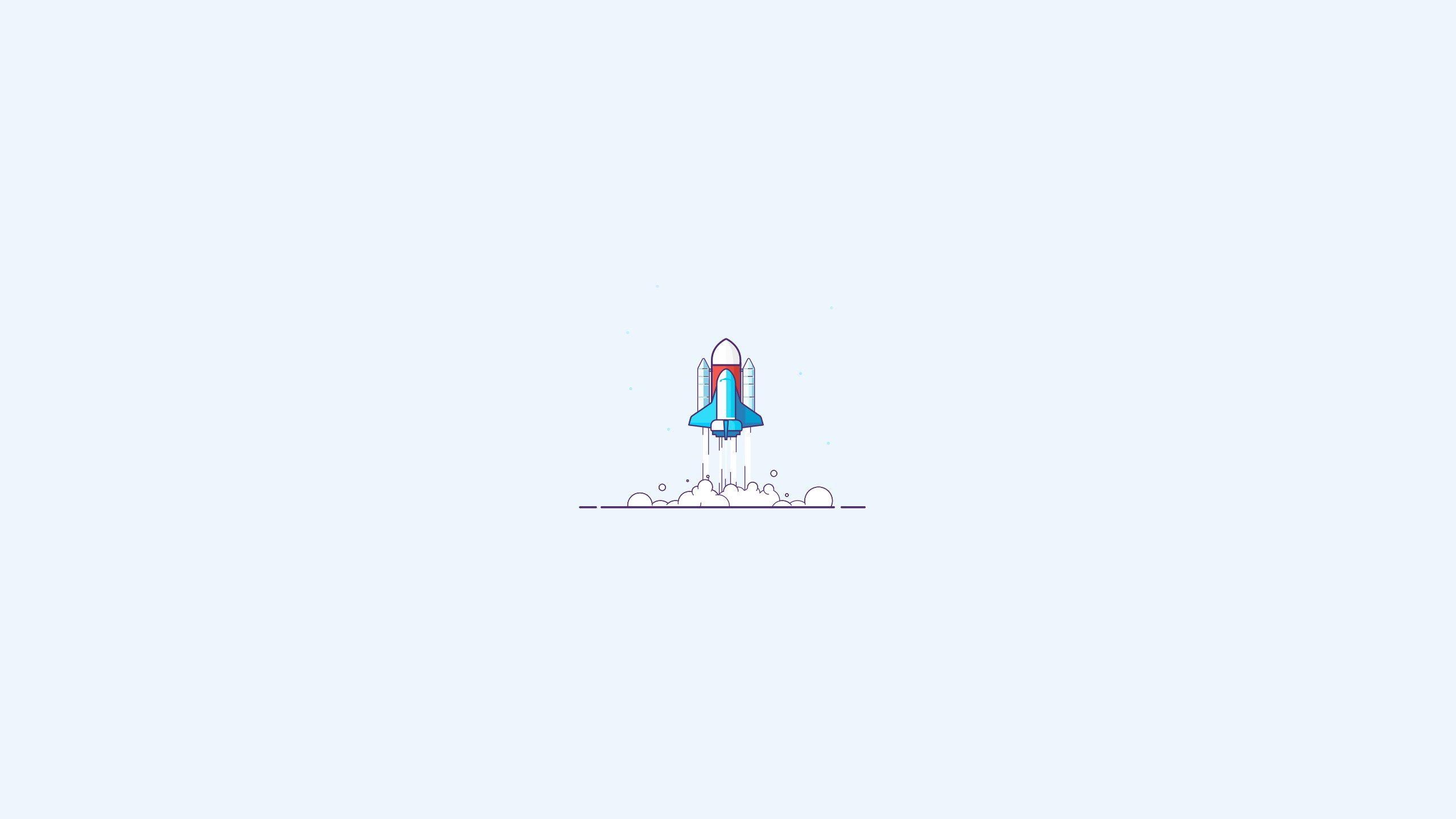 General 2560x1440 illustration rocket lift off minimalism space simple background white background