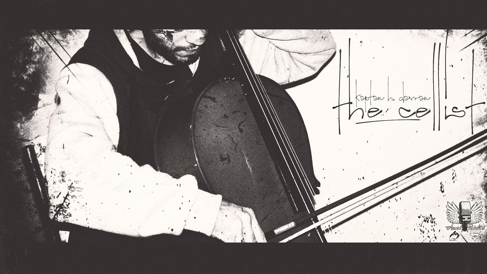General 1920x1080 Kaptan H. Davran cello album covers the cellist Aerosol Productions monochrome