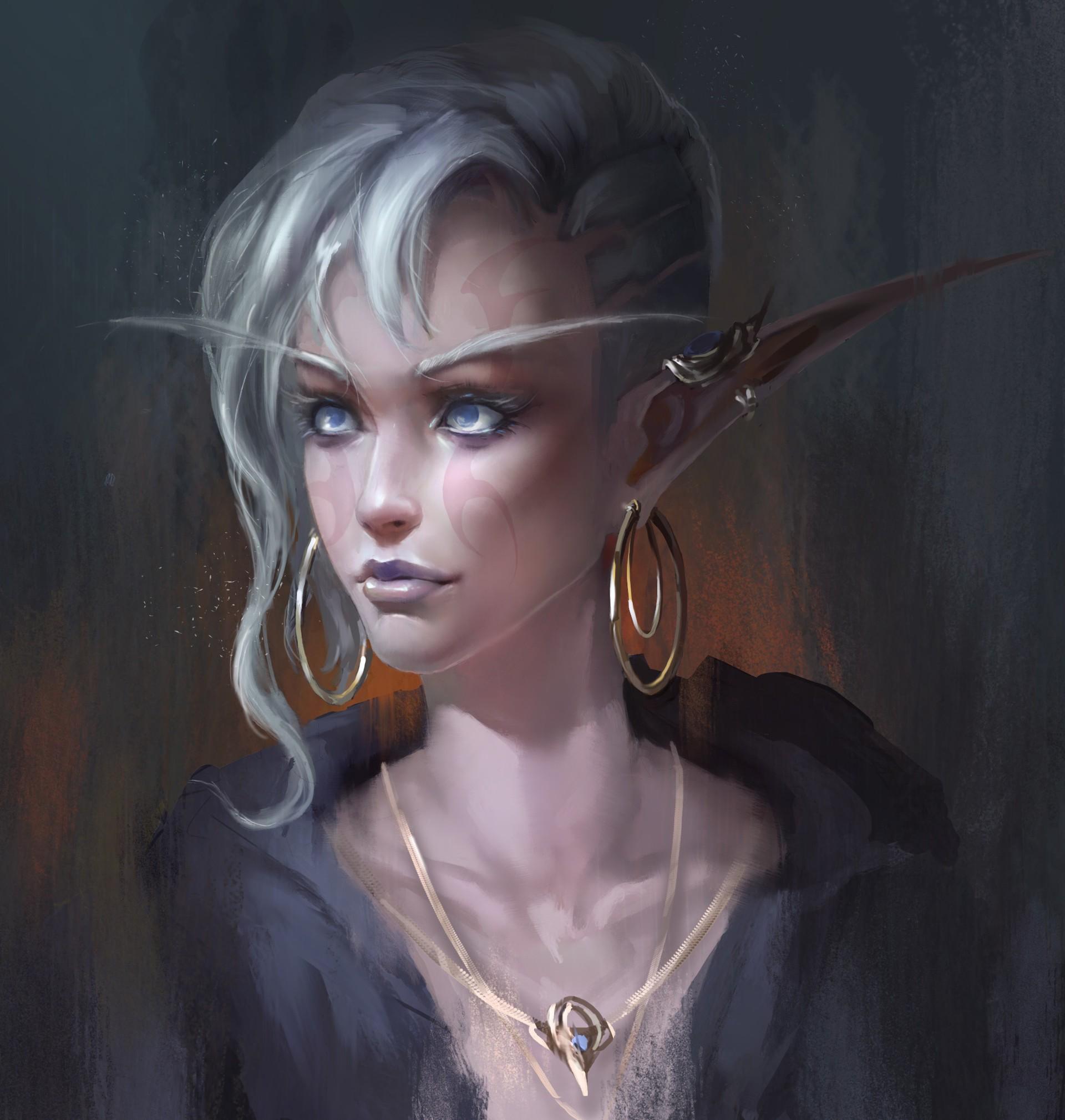 General 1920x2019 fantasy art fantasy girl necklace artwork blue eyes elf ears