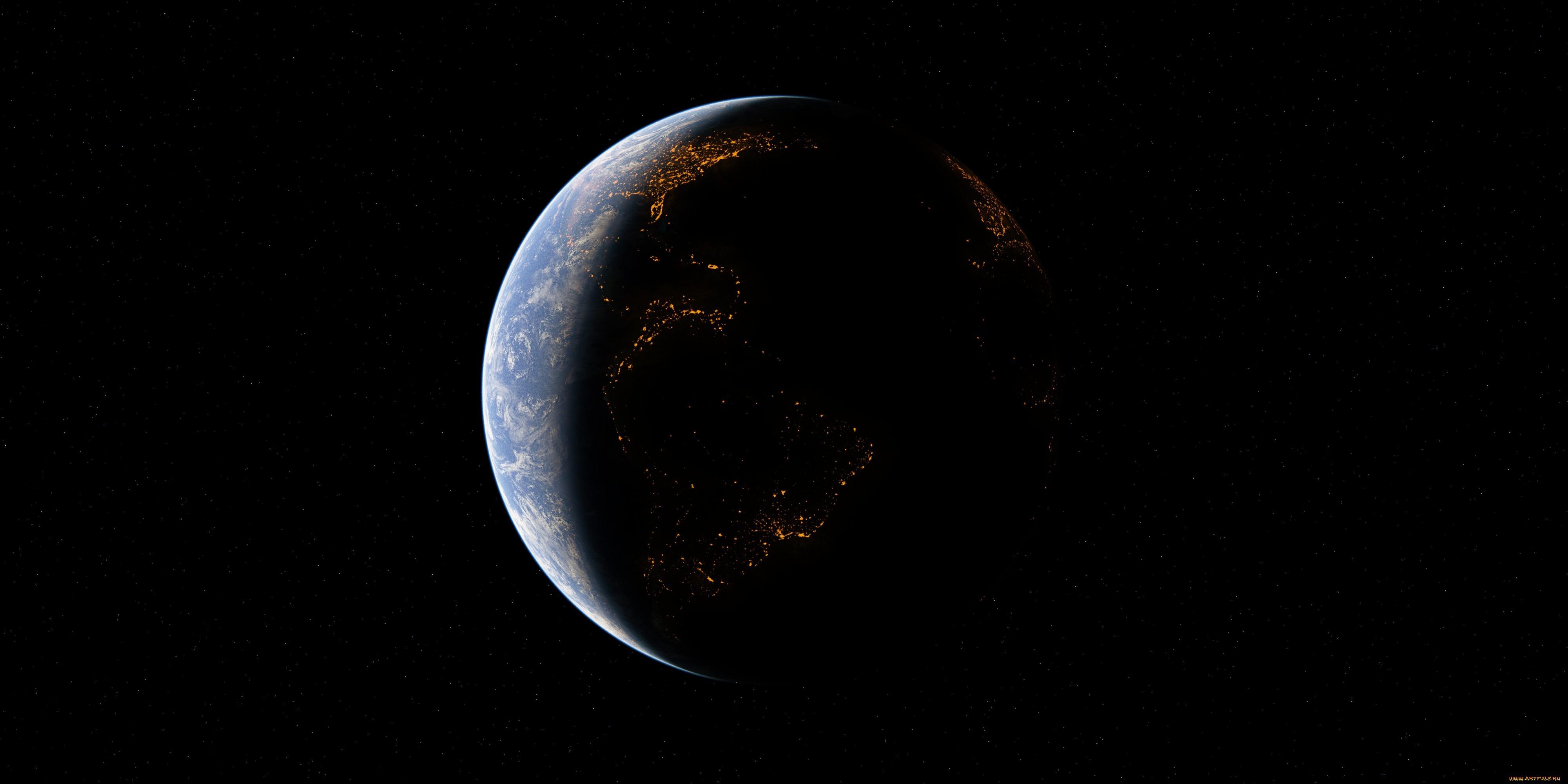 General 4000x2000 space planet space art digital art