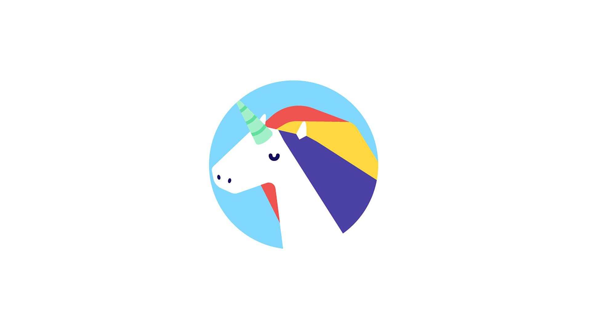 General 1920x1080 minimalism unicorn simple background