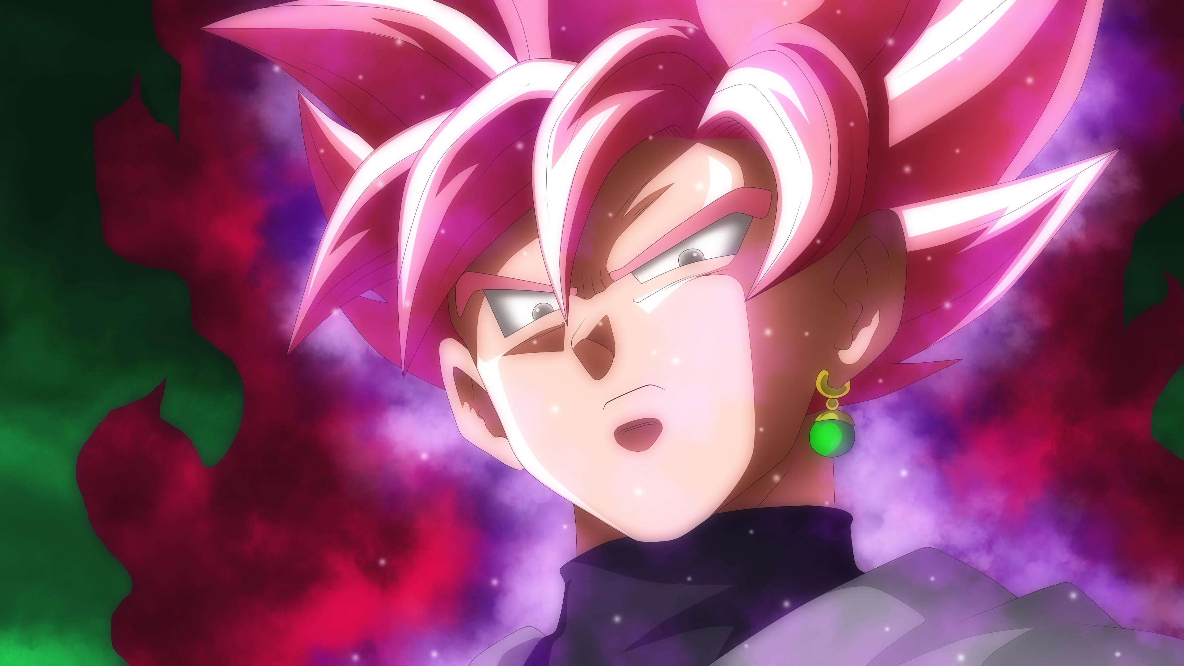 Anime 3840x2160 Dragon Ball Super Super Saiyajin Rosé Super Saiyan Rosé Black Goku Dragon Ball Goku Black