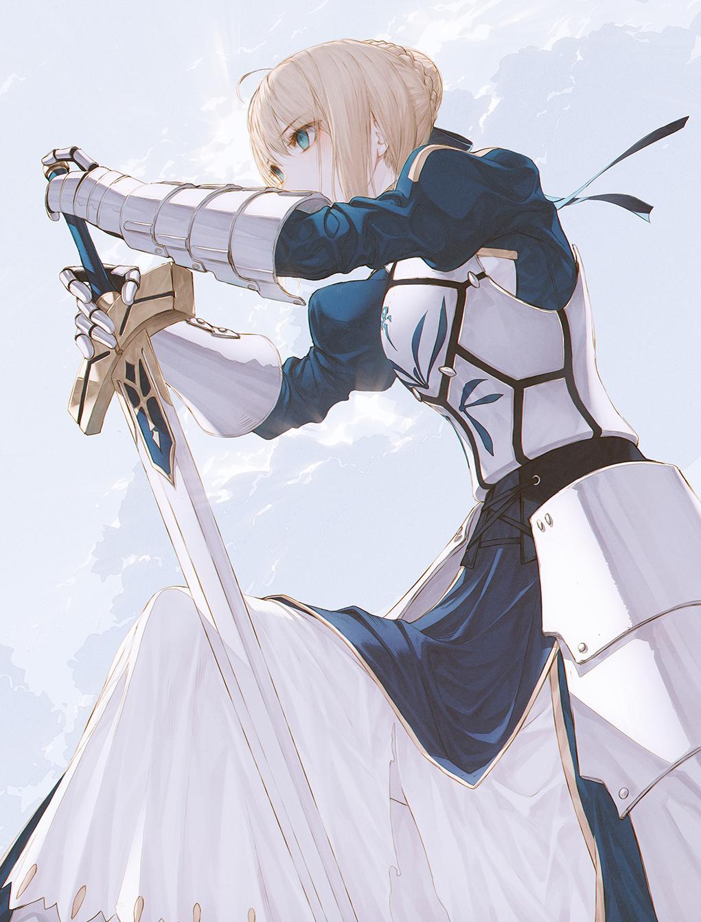 Anime 1021x1343 Fate Series Fate/Stay Night anime girls blond hair Saber Arturia Pendragon wanke
