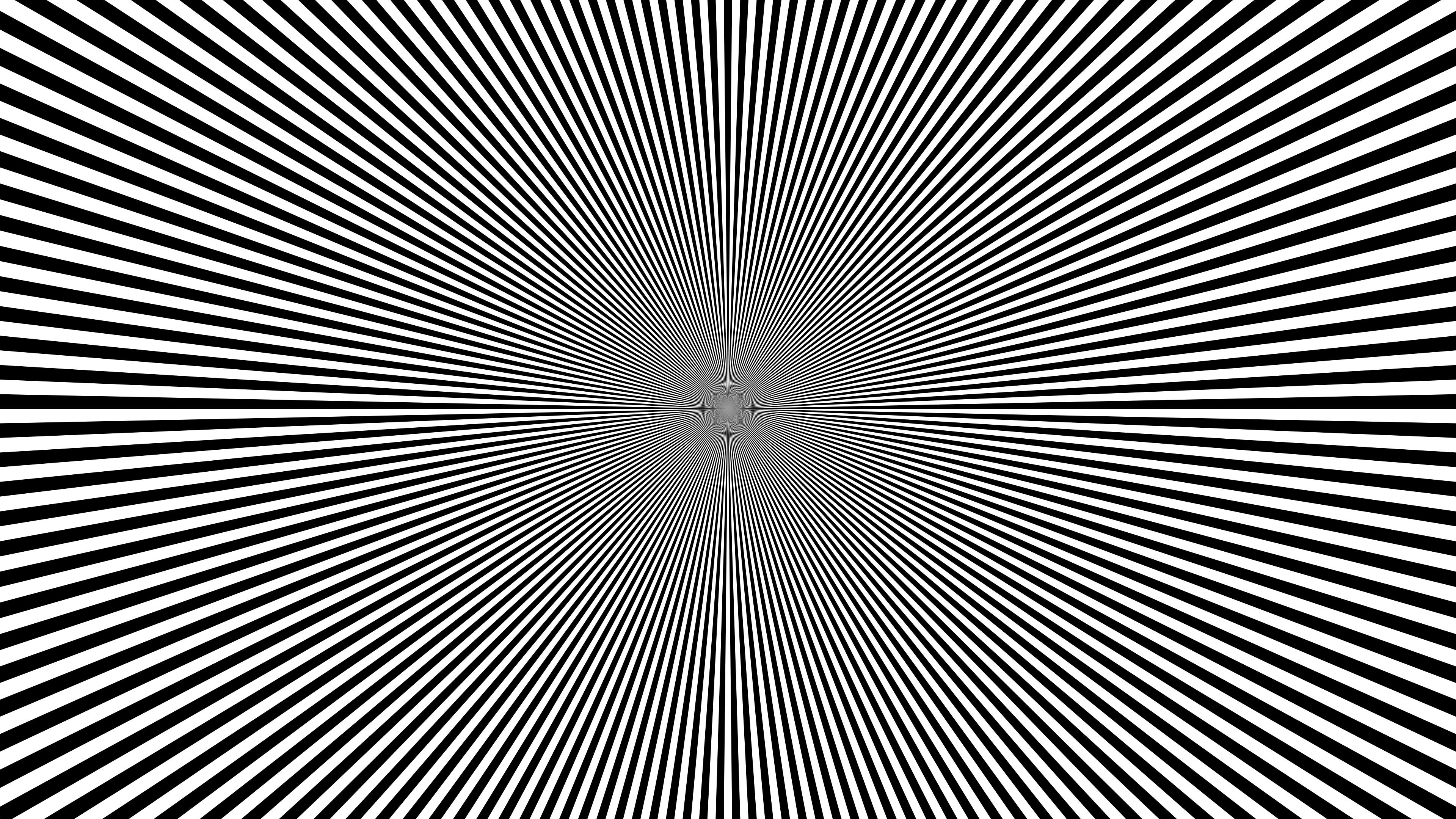 General 3840x2160 sunburst Radial test patterns pattern geometry geometric figures bright simple optical illusion contrast monochrome trippy