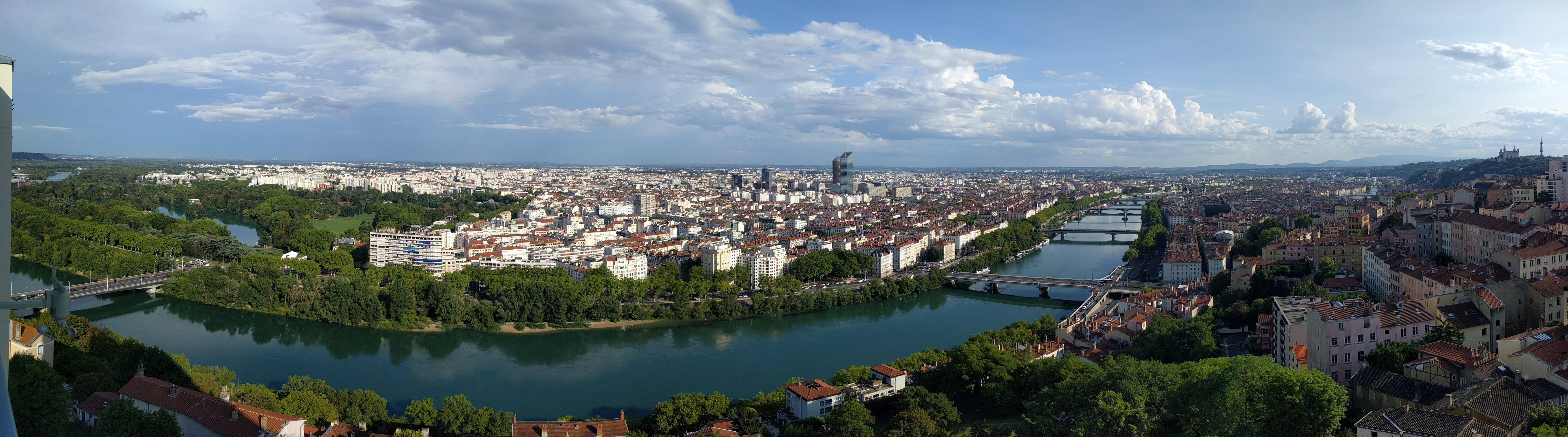 General 6982x1946 Lyon city France cityscape