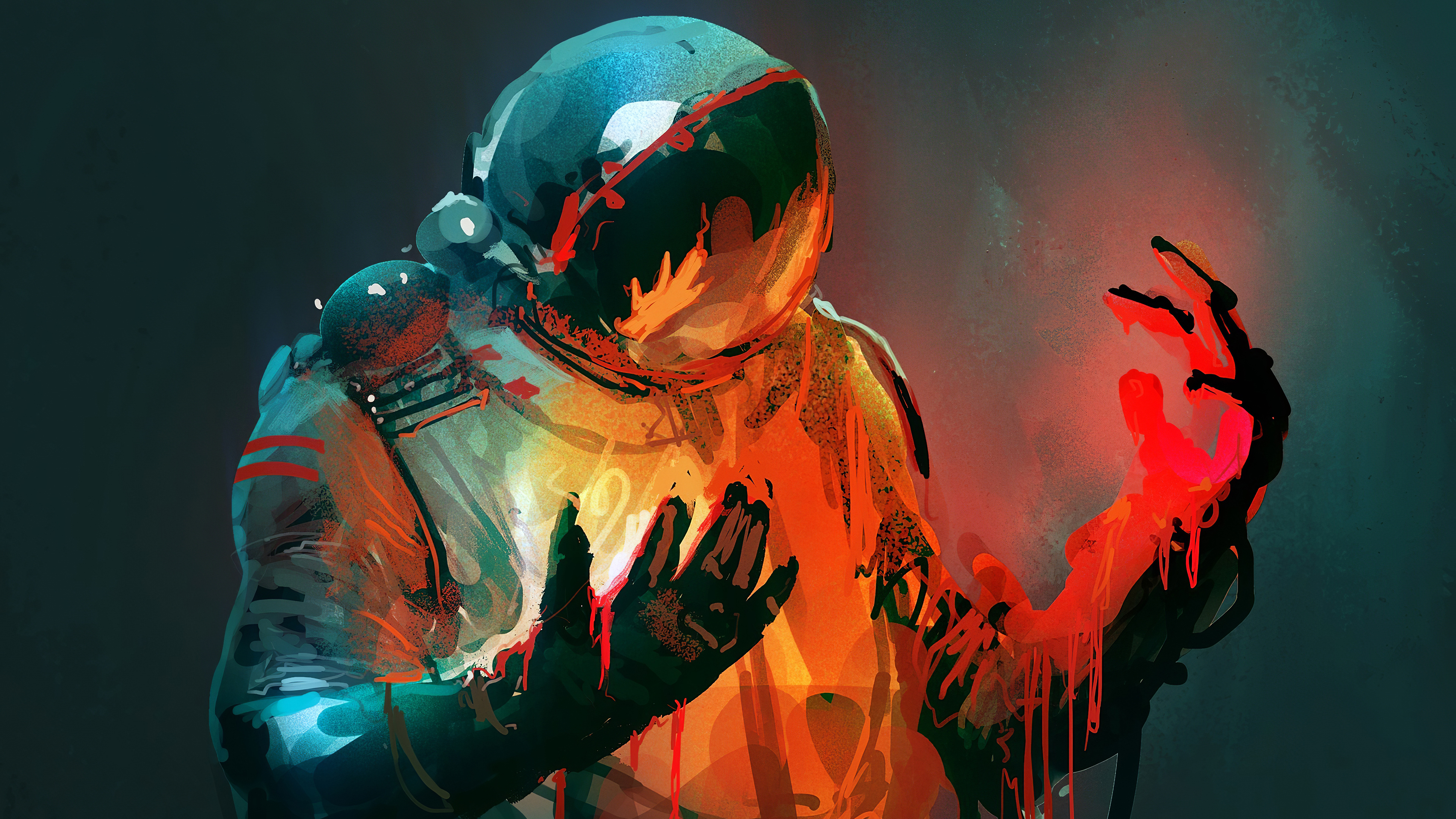 General 3840x2160 spacesuit Nikolai Lockertsen astronaut digital digital art