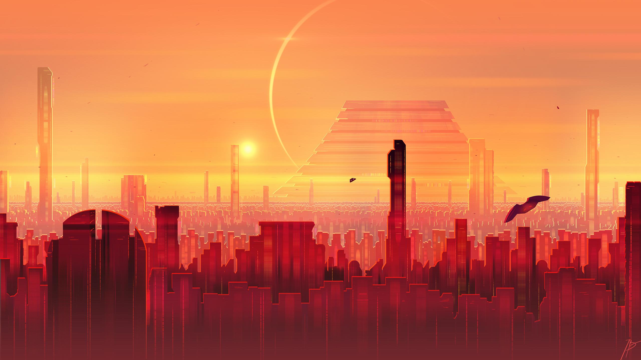 General 2560x1440 JoeyJazz cityscape futuristic science fiction