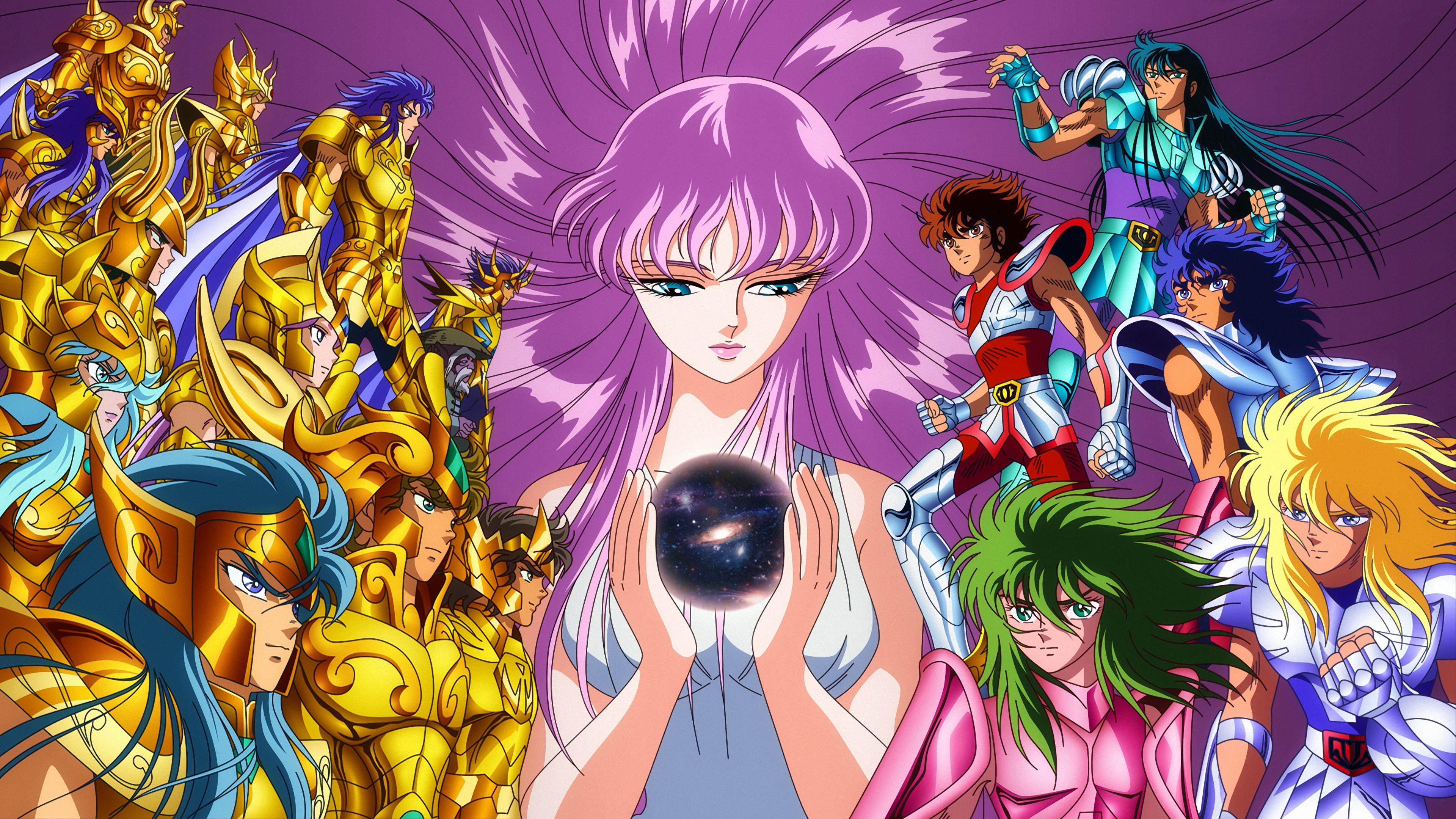 Anime 3840x2160 Saint Seiya Saori Kido anime digital art 2D artwork