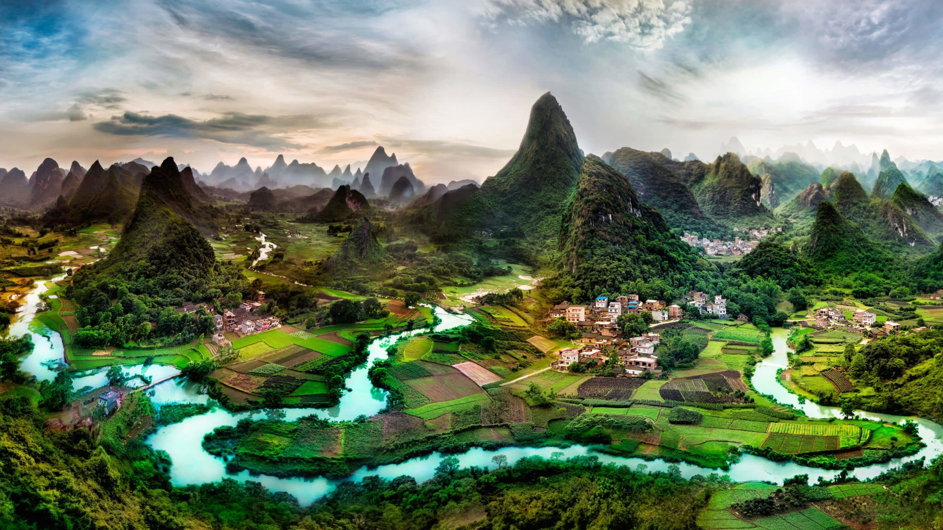 General 1920x1080 water nature Li River China landscape mountains