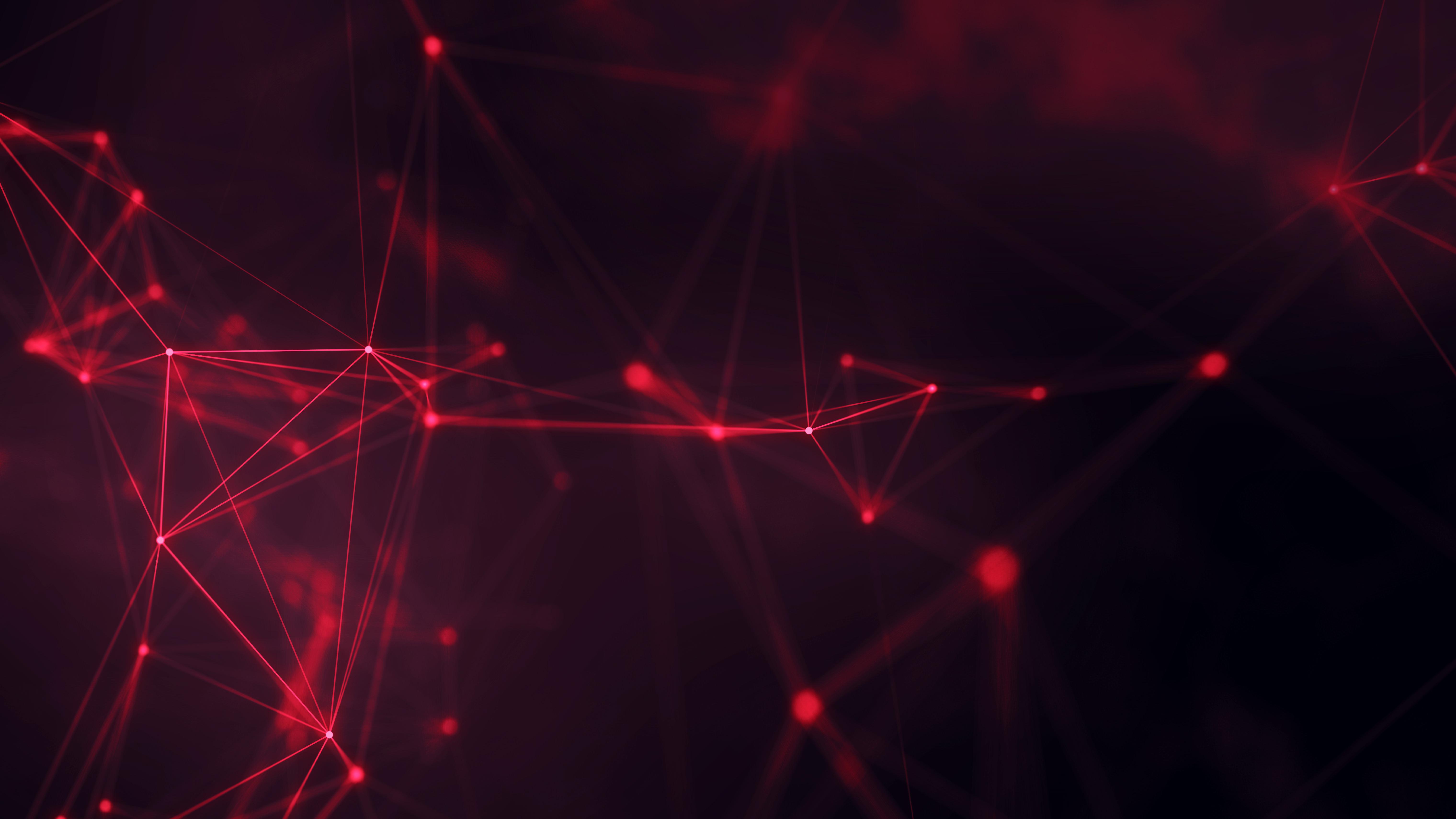 General 6080x3420 geometry cyberspace digital art red lines abstract