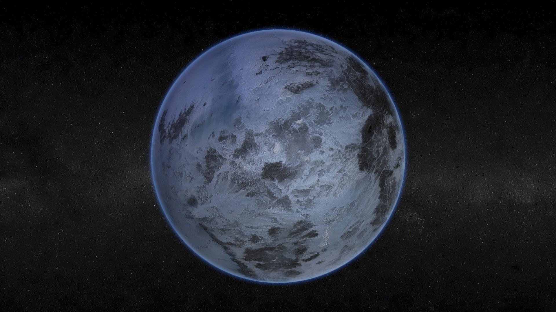 General 1920x1080 space Pluto space art Solar System digital art