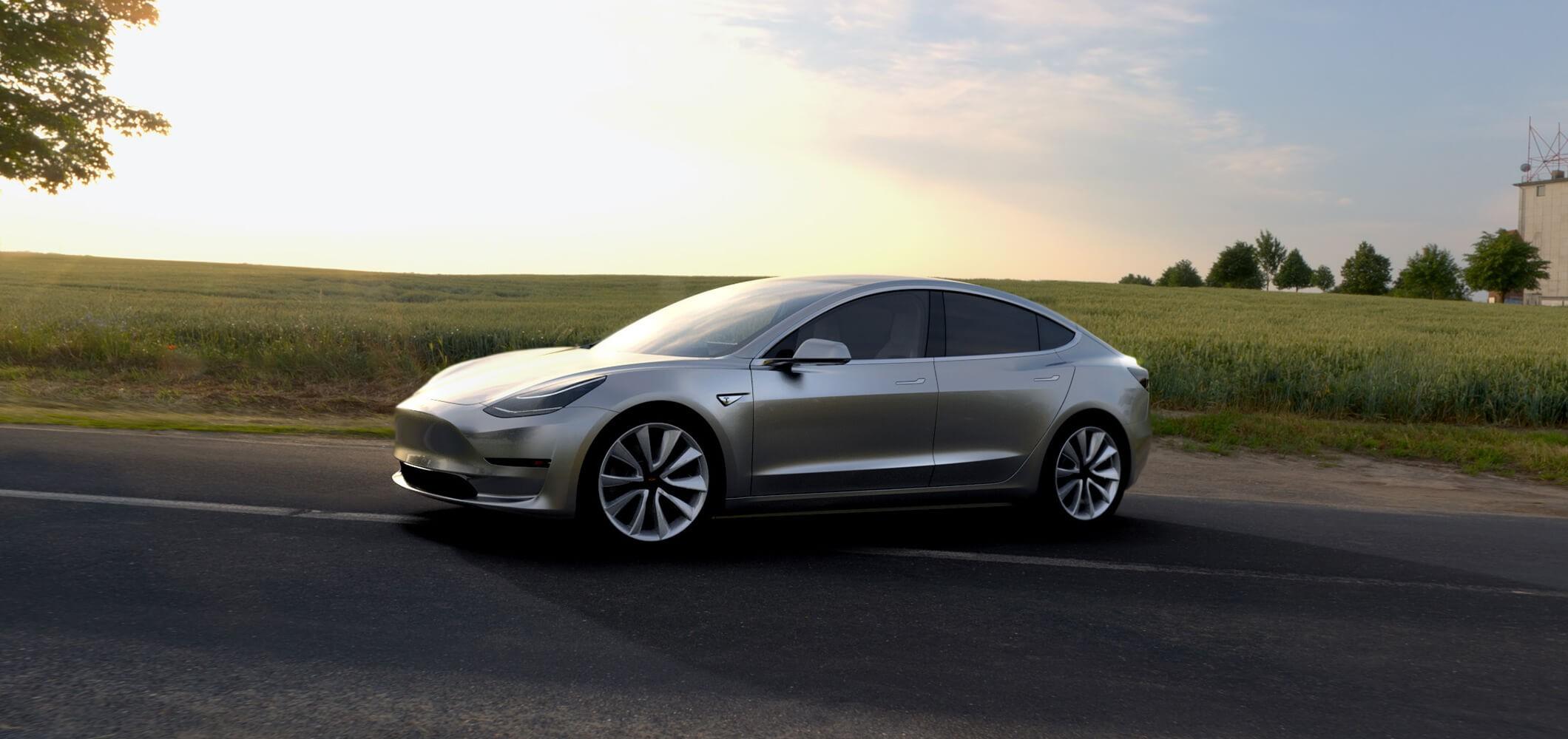 General 2120x1000 Tesla Motors electric car Model 3 Tesla
