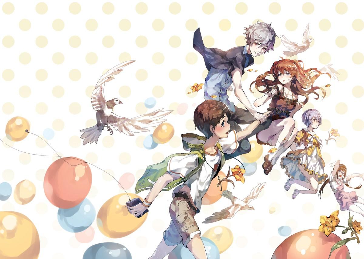 Anime 1200x853 Neon Genesis Evangelion Ayanami Rei Asuka Langley Soryu Ikari Shinji Kaworu Nagisa Makinami Mari