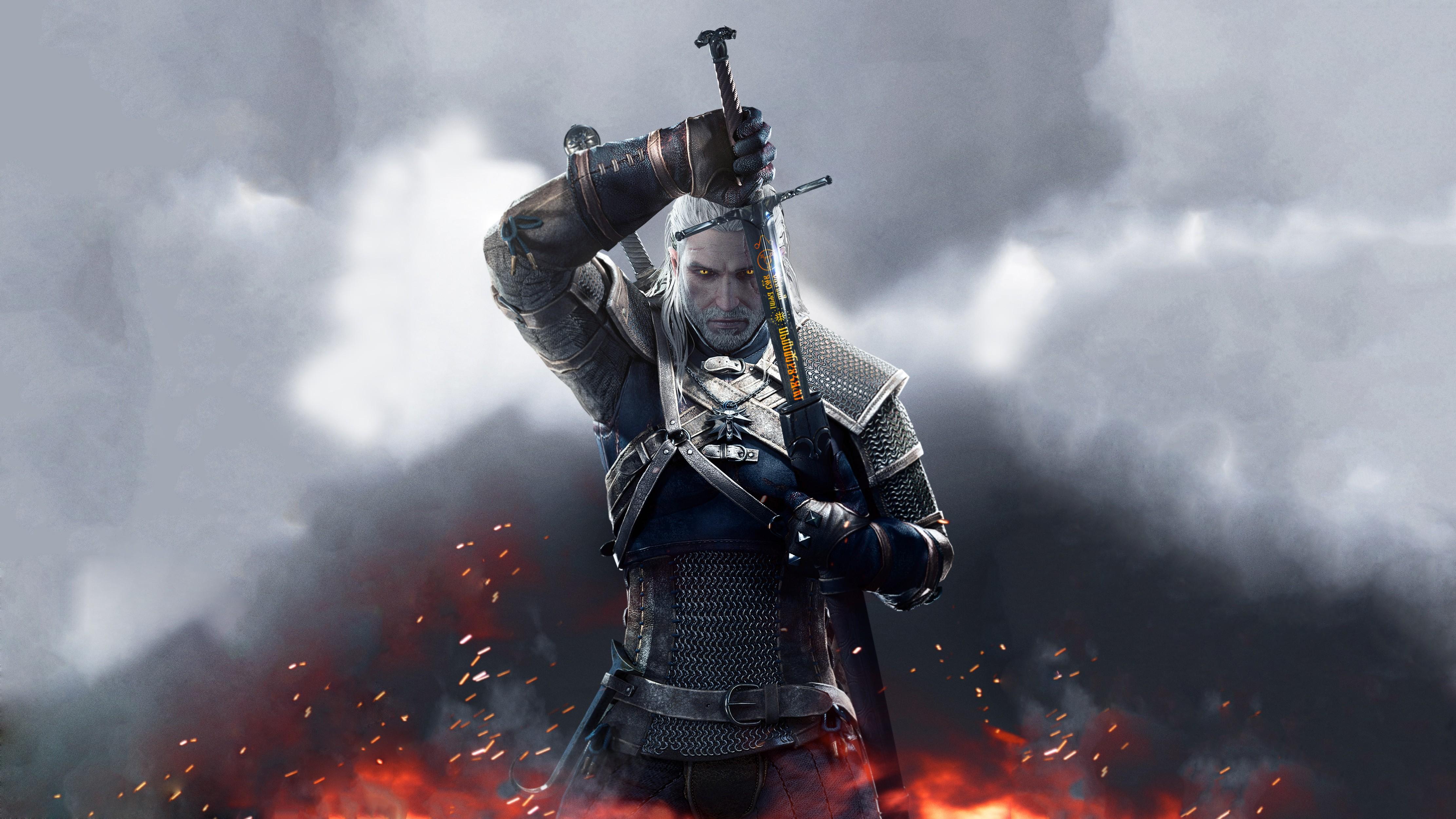 General 4444x2500 video games The Witcher 3: Wild Hunt Geralt of Rivia runes