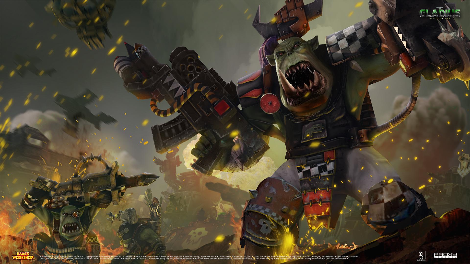 General 1920x1080 Warhammer 40,000 Gladius Waaaaagghhh Warhammer orks Games Workshop green skins