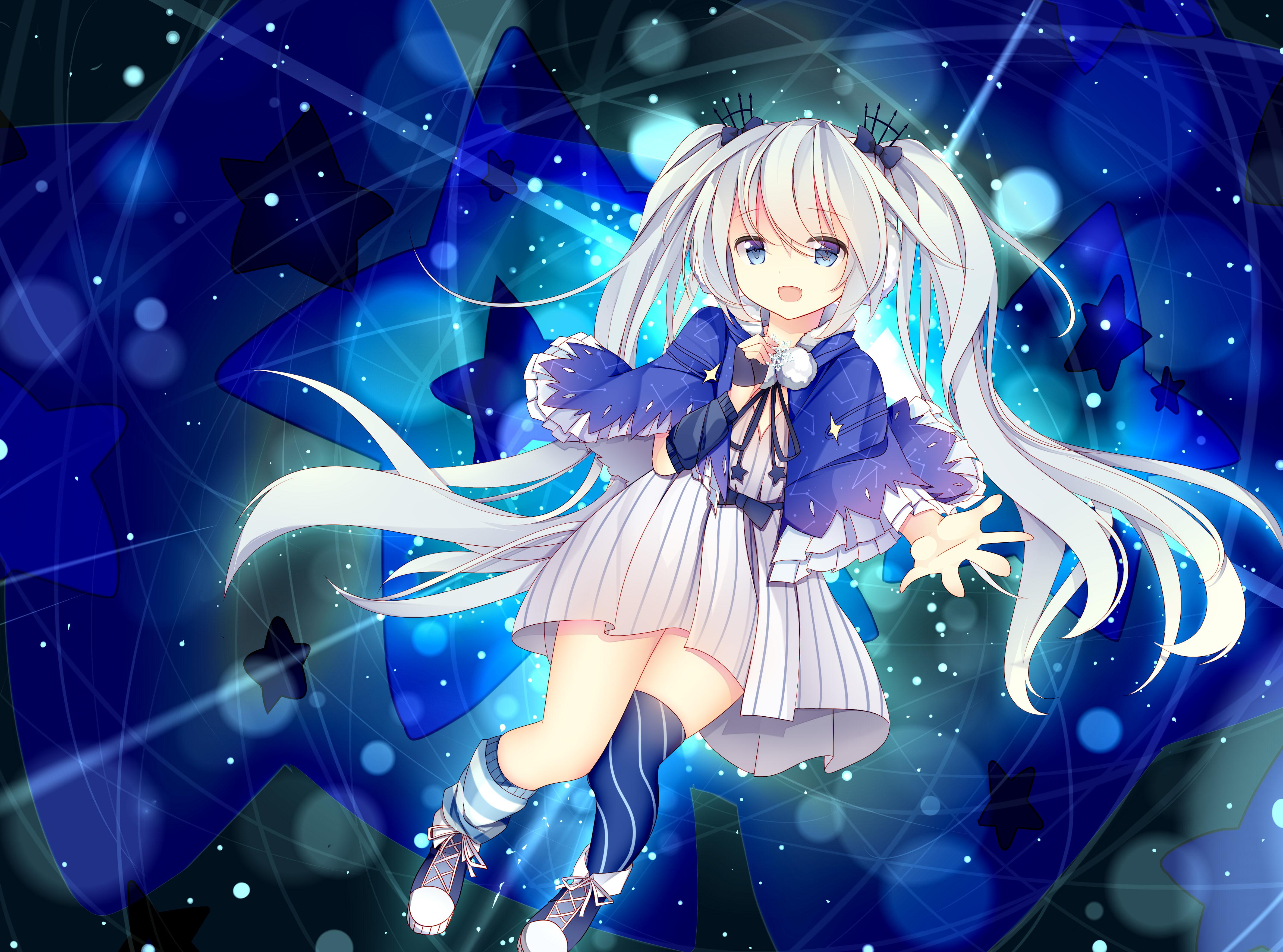 Anime 4724x3507 Vocaloid Hatsune Miku anime girls blue eyes long hair blue