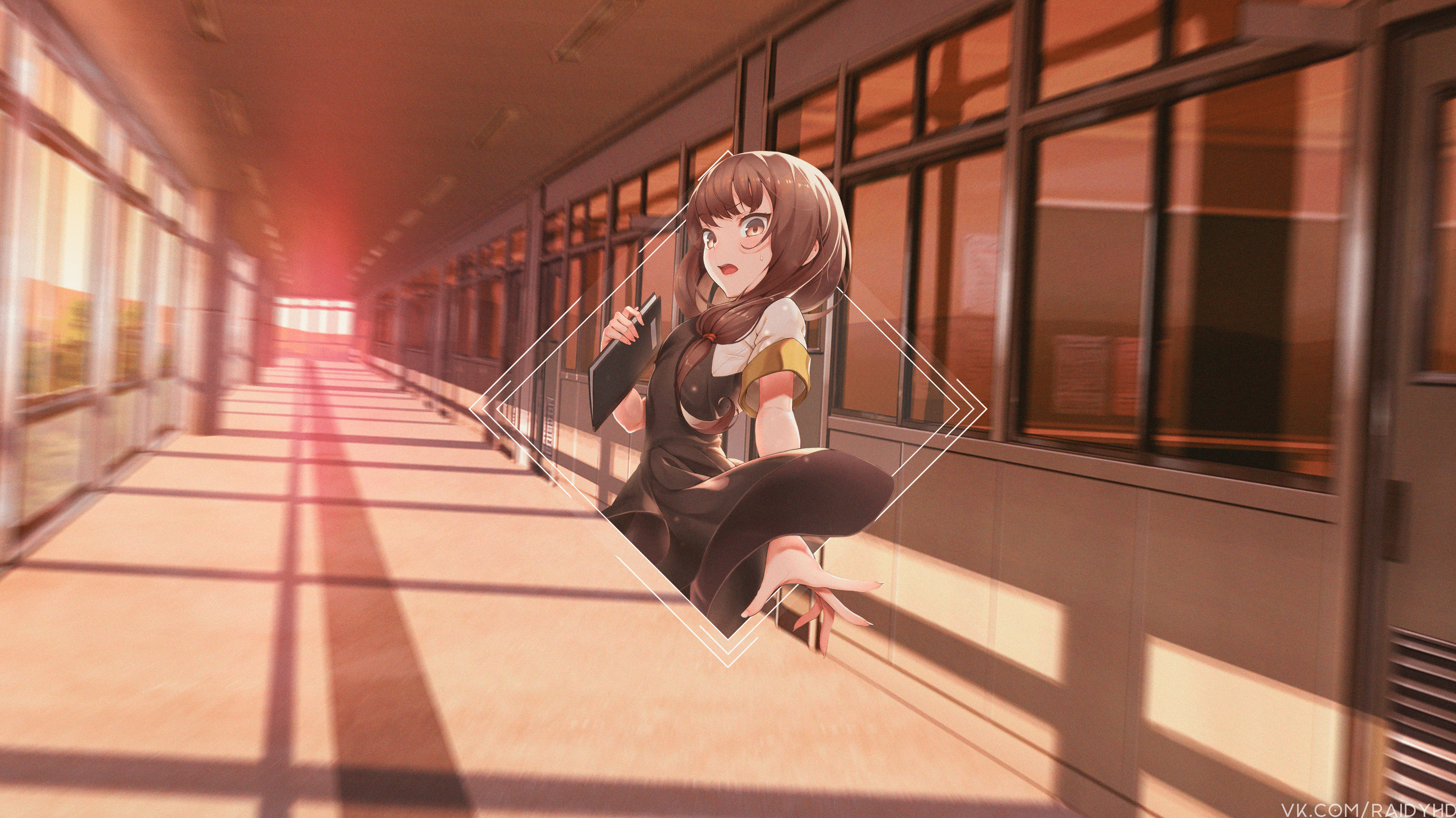 Anime 3840x2160 anime anime girls picture-in-picture Miko Iino school school uniform