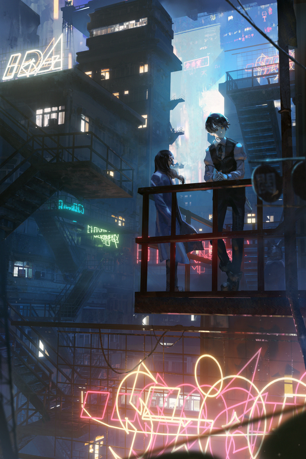 General 985x1477 va-11 hall-a cyberpunk anime city