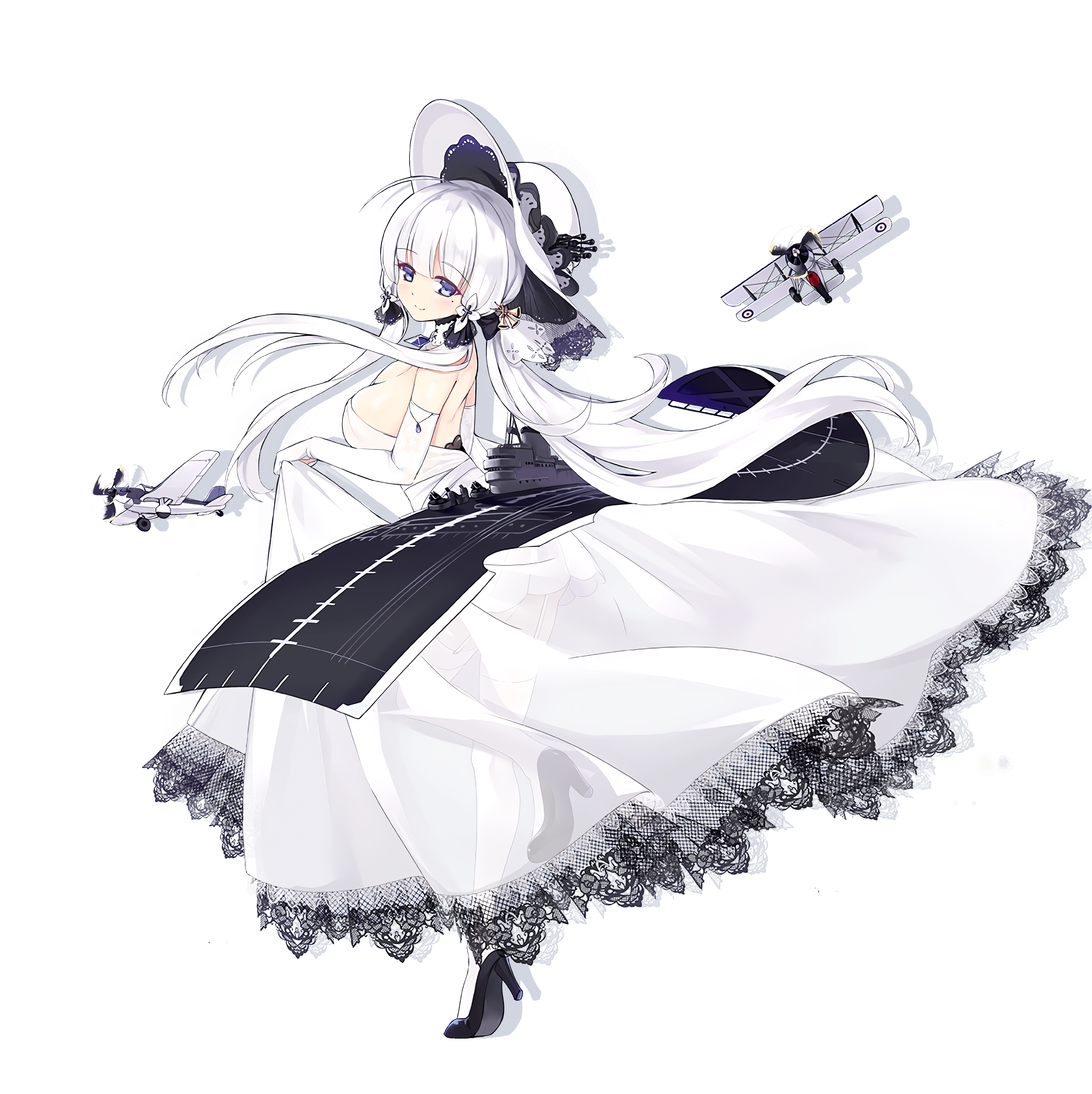 Anime 2410x2414 Azur Lane Illustrious (Azur Lane) black background