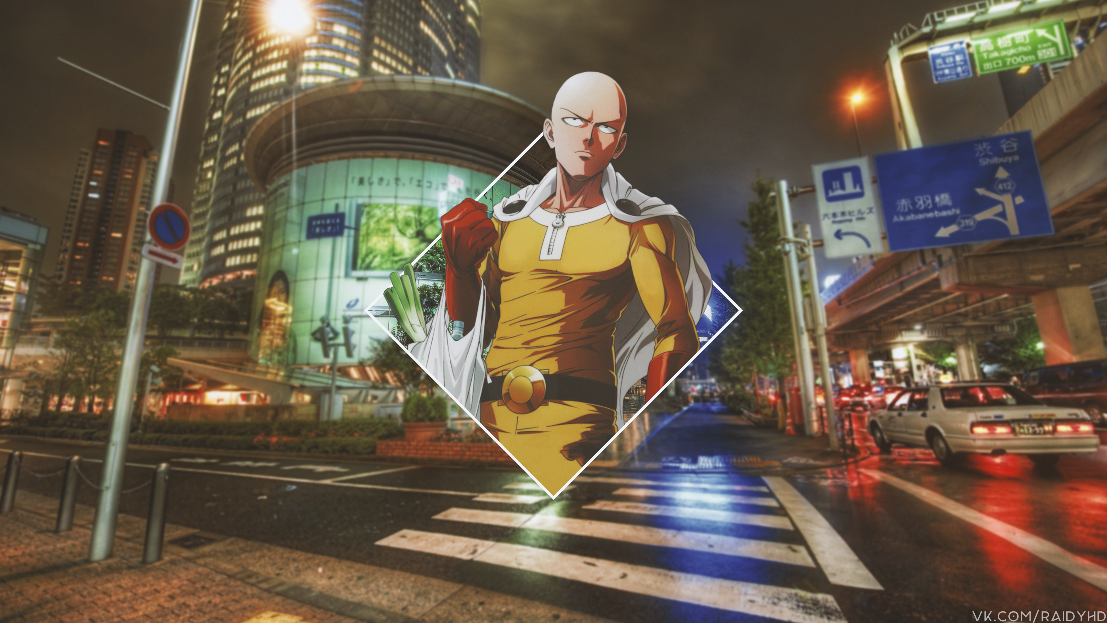 Anime 3840x2160 anime picture-in-picture anime boys Saitama One-Punch Man