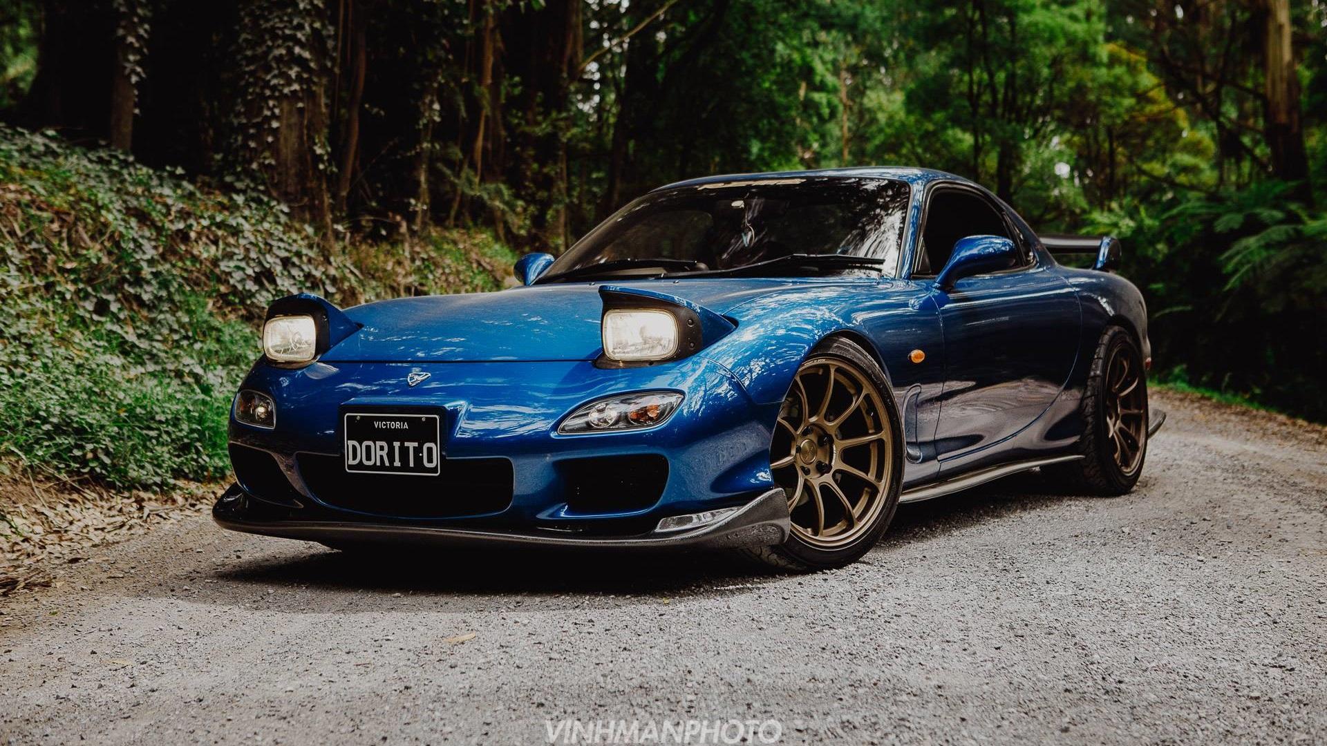 Mazda RX-7 FD, JDM, Japanese cars, sports car, Mazda, blue ...